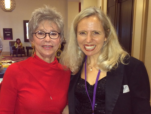Rita Moreno and Heather Rogers were both Keynote Speakers at the 2014 East Bay Women's Entrepreneurial Conference. Heather performed at a private event at Rita's home in 2013.