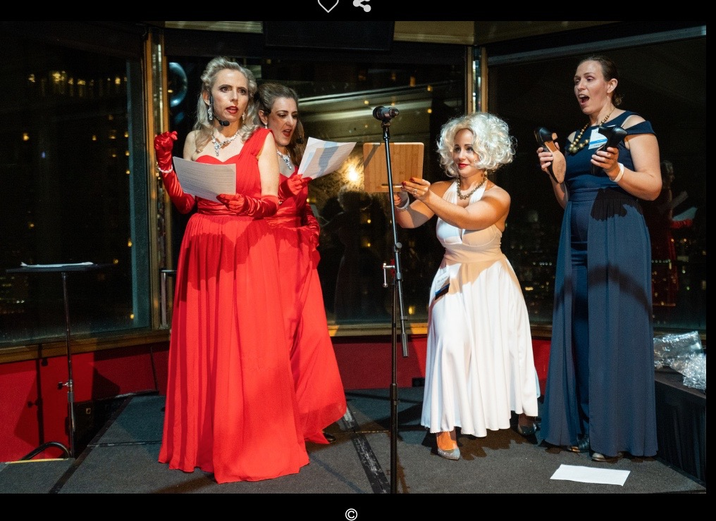 1940s Radio Show for the MPI Holiday Party at the Starlight Room in SF, in December of 2018