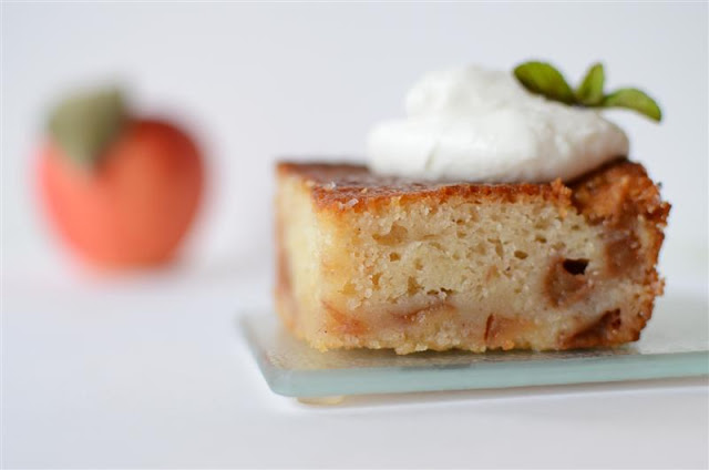 Virginia Apple Pudding (cake) - ButterYum.  scratch apple cake recipe.  how to make an apple pudding.