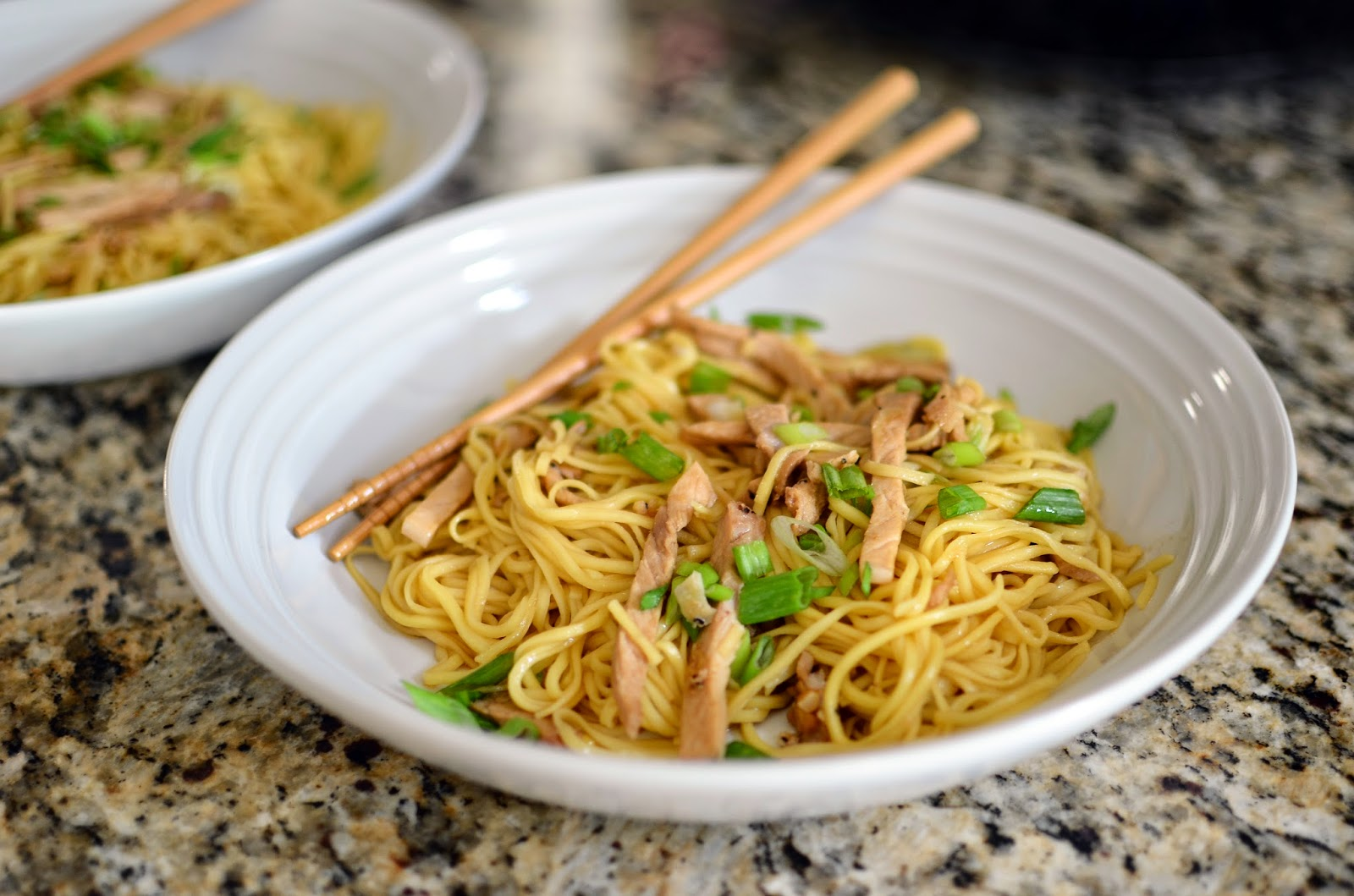 Sesame Noodles with Roasted Pork - ButterYum