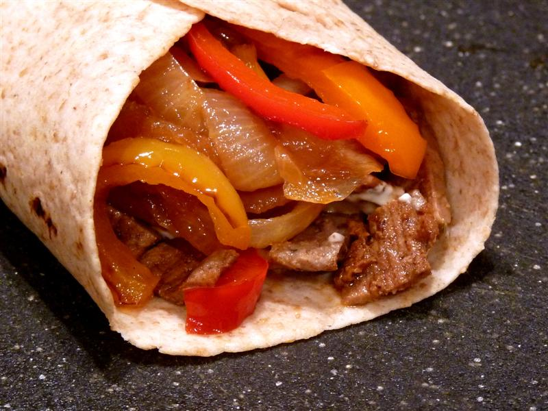 Lime Marinated Beef Fajitas with Seasoned Sour Cream - ButterYum.