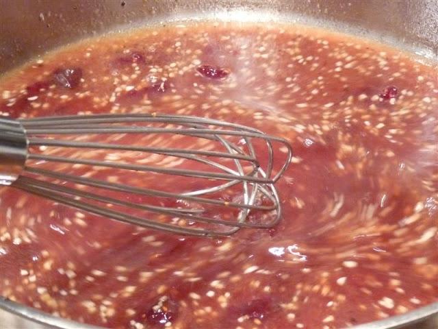 how to make a fruit glaze or reduction for pork tenderloins
