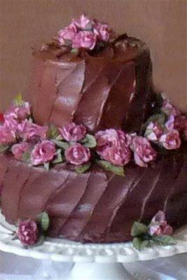 petite chocolate wedding cake