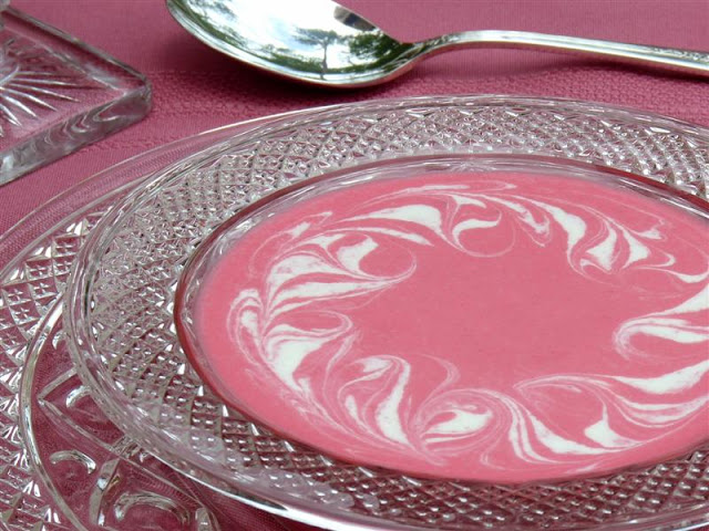 Chilled Strawberry Soup with Greek Yogurt