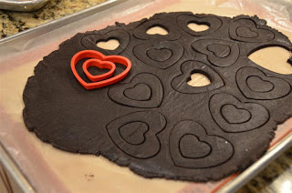 how to make Valentine's Day Heart Cookies