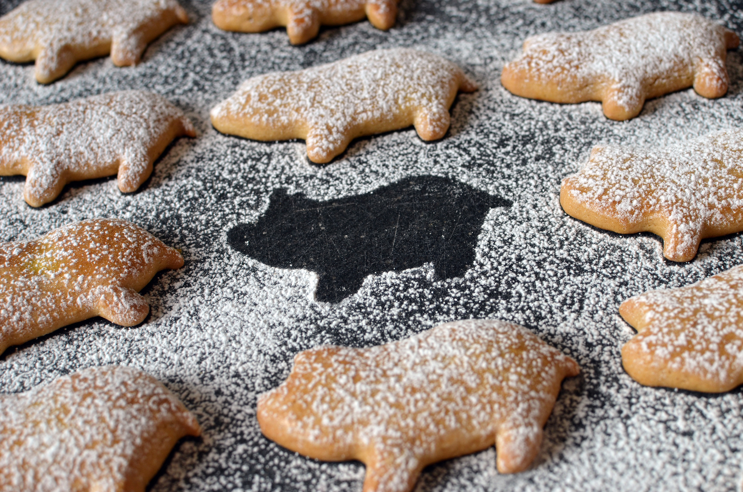 Pati Jinich's Piggy Cookies - ButterYum. how to make Mexican pig cookies, creditos, cochinitos, marranitoso, or puerquitos.