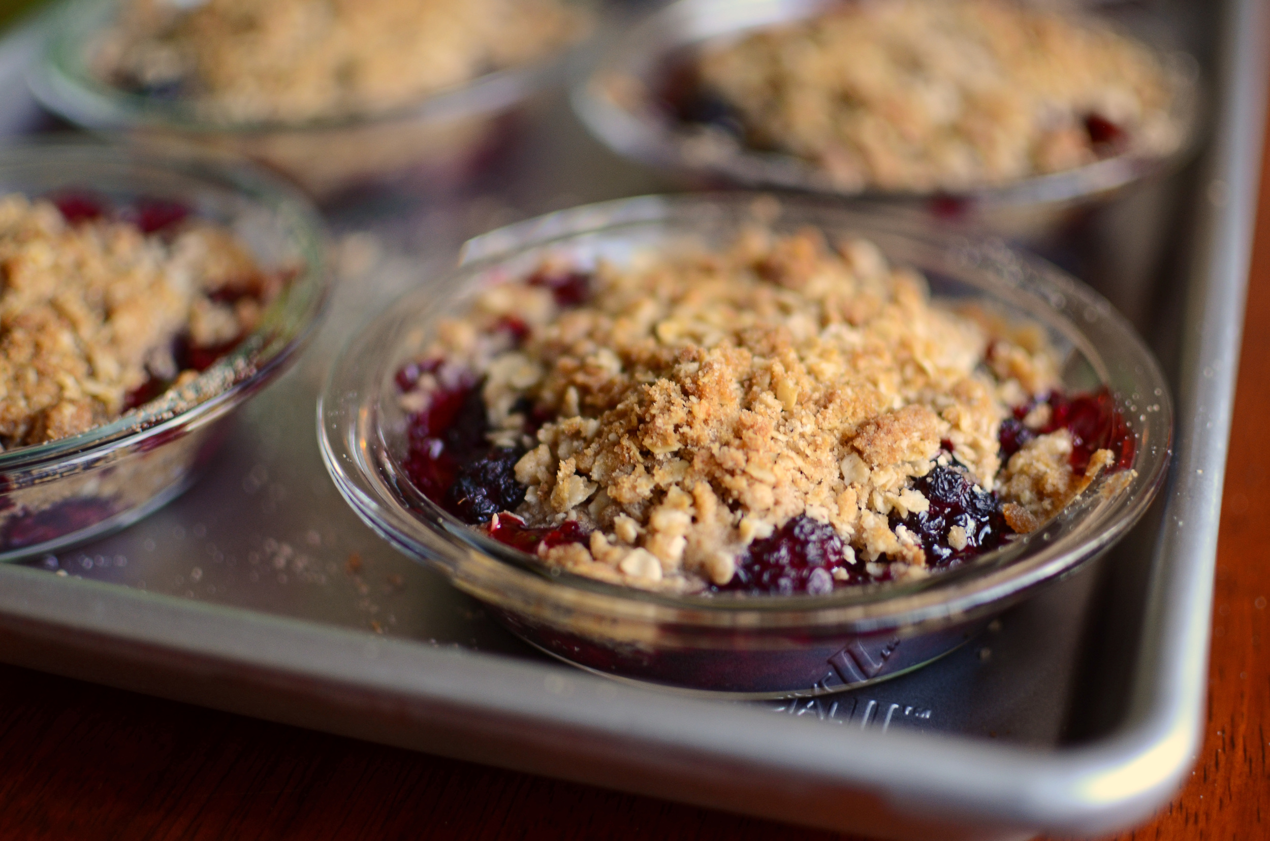 Mini Blackberry Crumbles