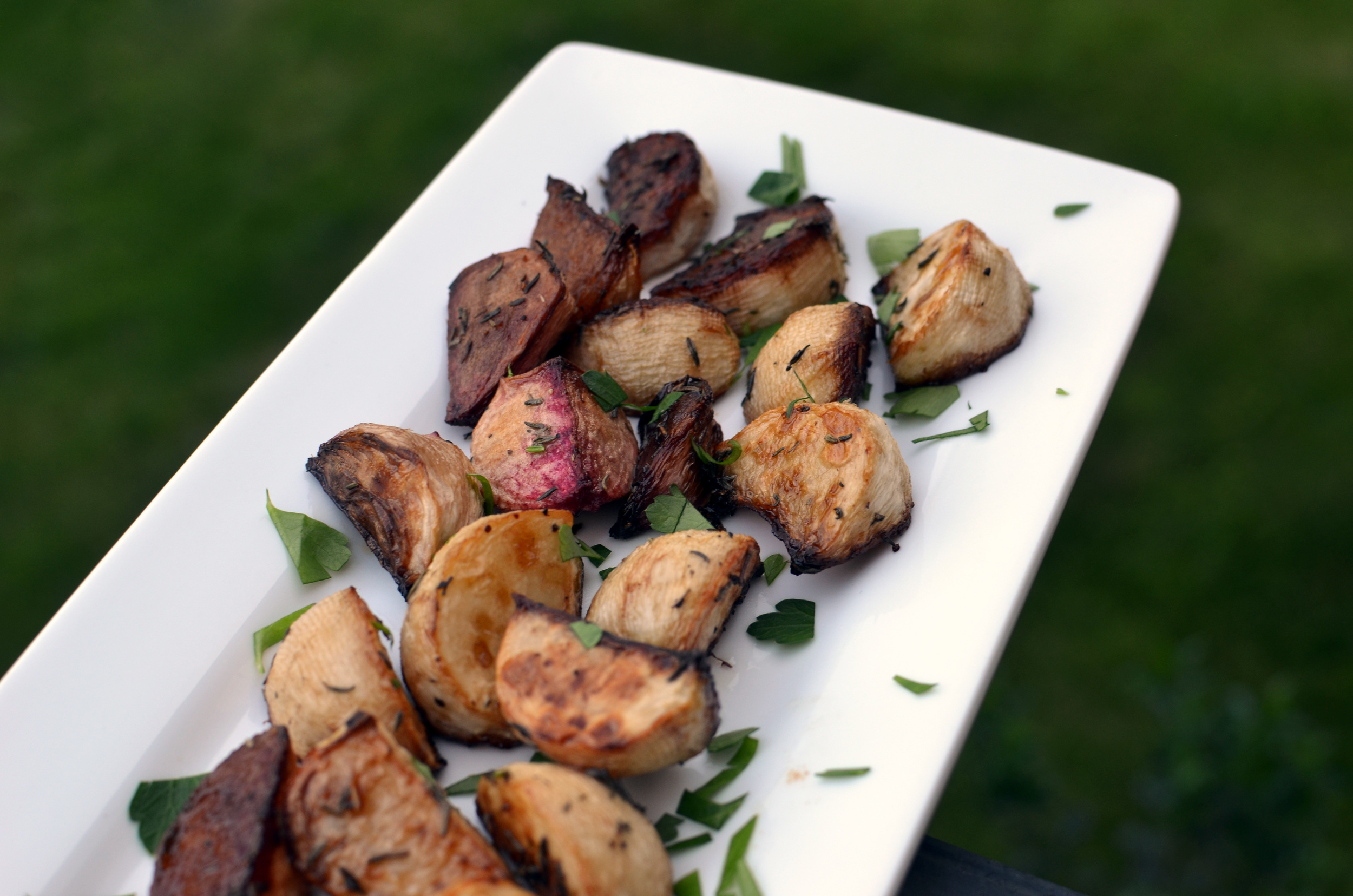 Balsamic Roasted Turnips with Thyme - ButterYum
