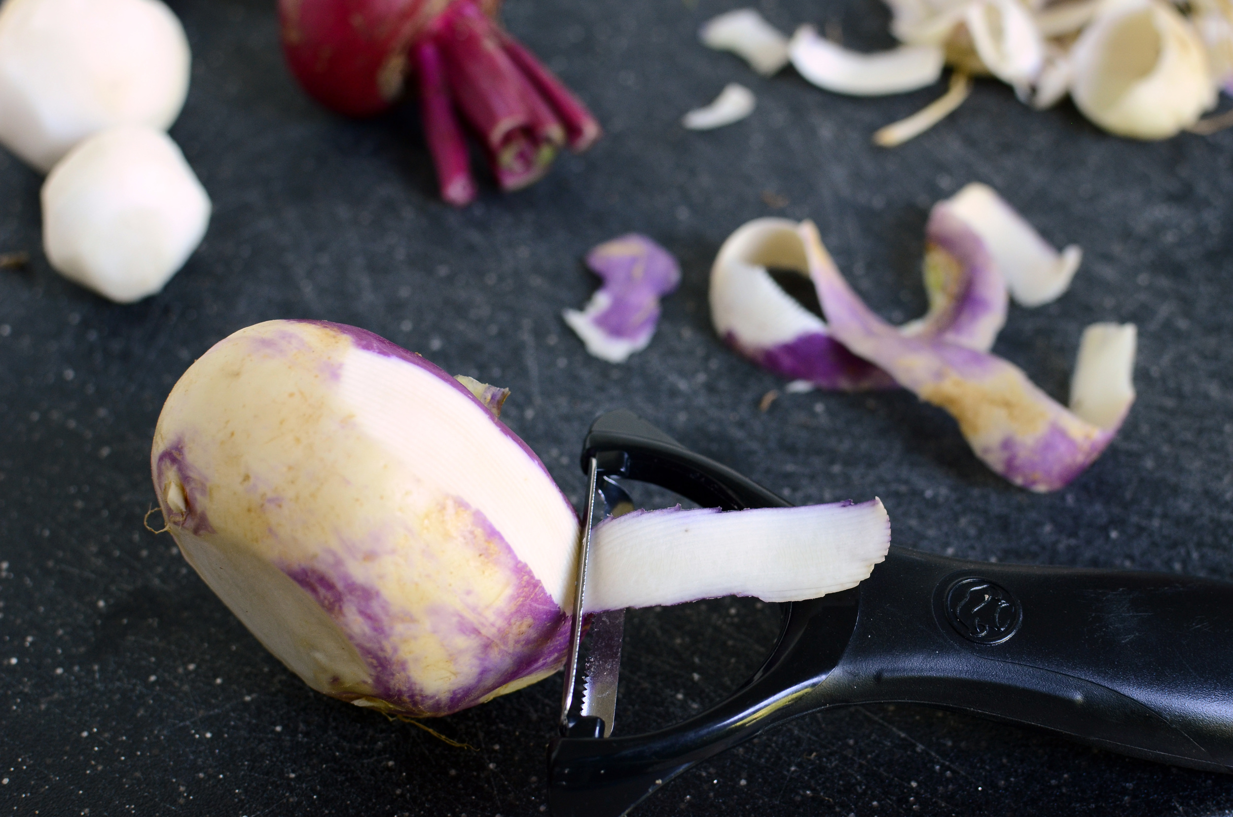 Serrated Peelers  are the best peelers for tough skinned vegetables.