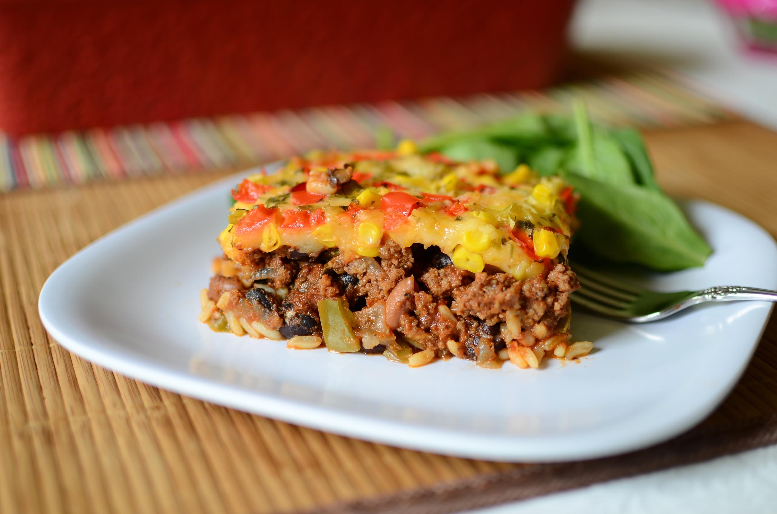 Mexican Beef Casserole - ButterYum