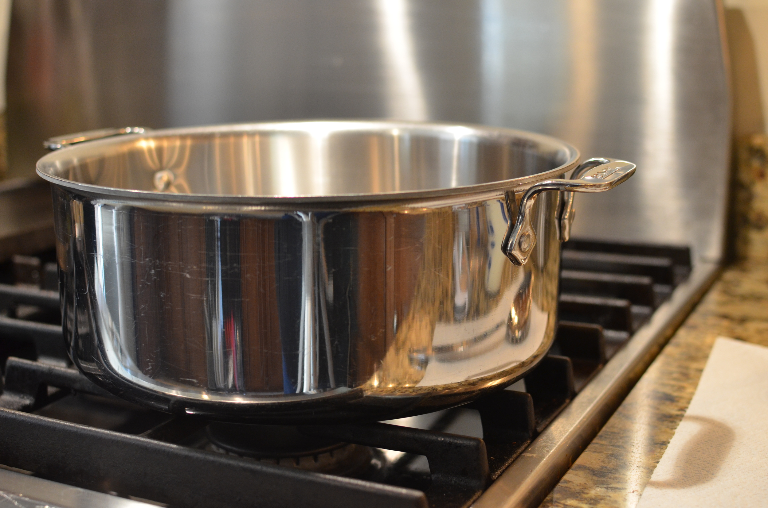 You'll also need a 6-quart stainless heavy-bottom saucepan.