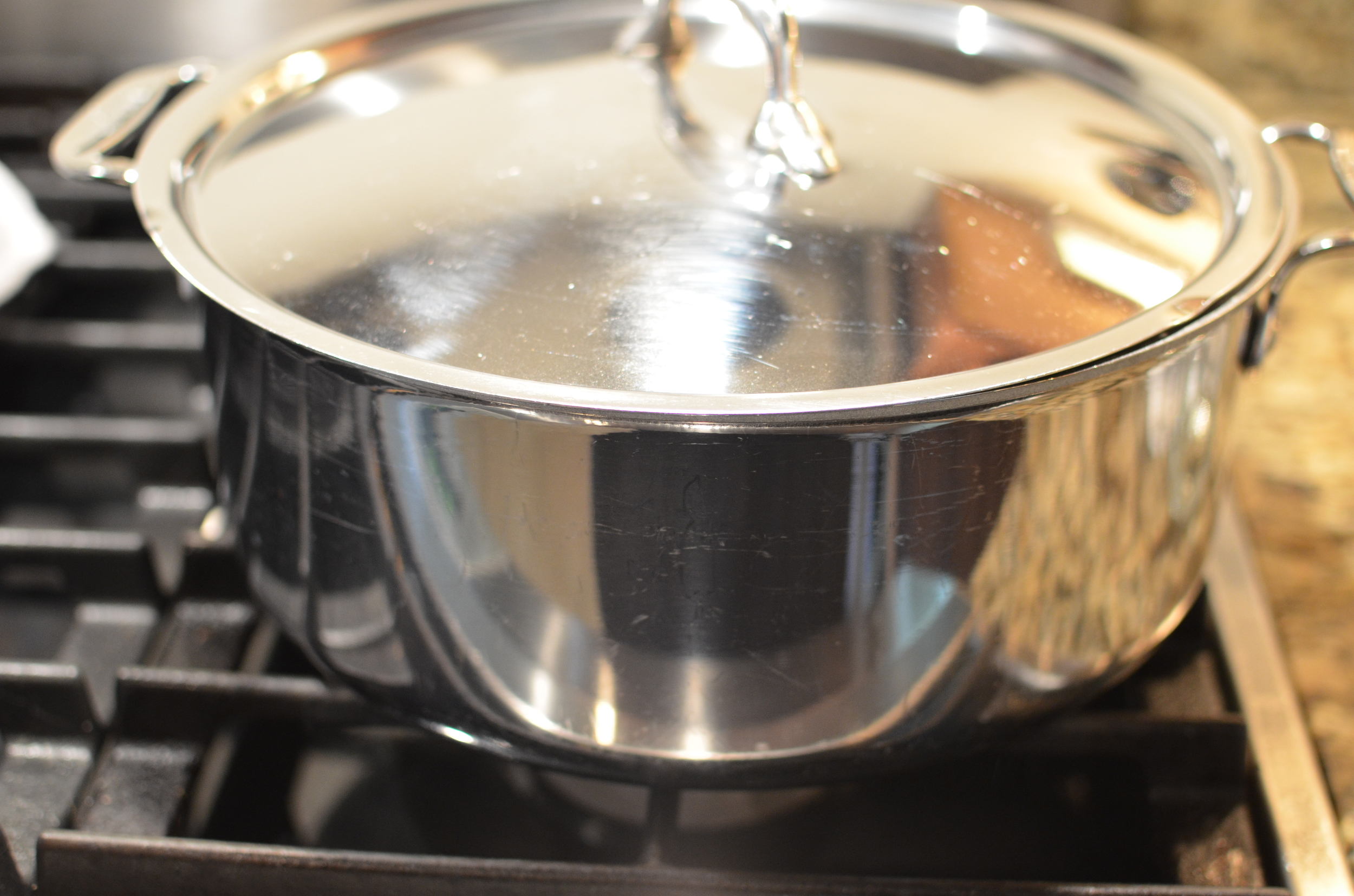 Cover the pan with a lid and let it rest for about an hour.