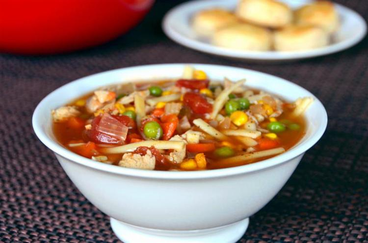 Southwestern Chicken Noodle Soup