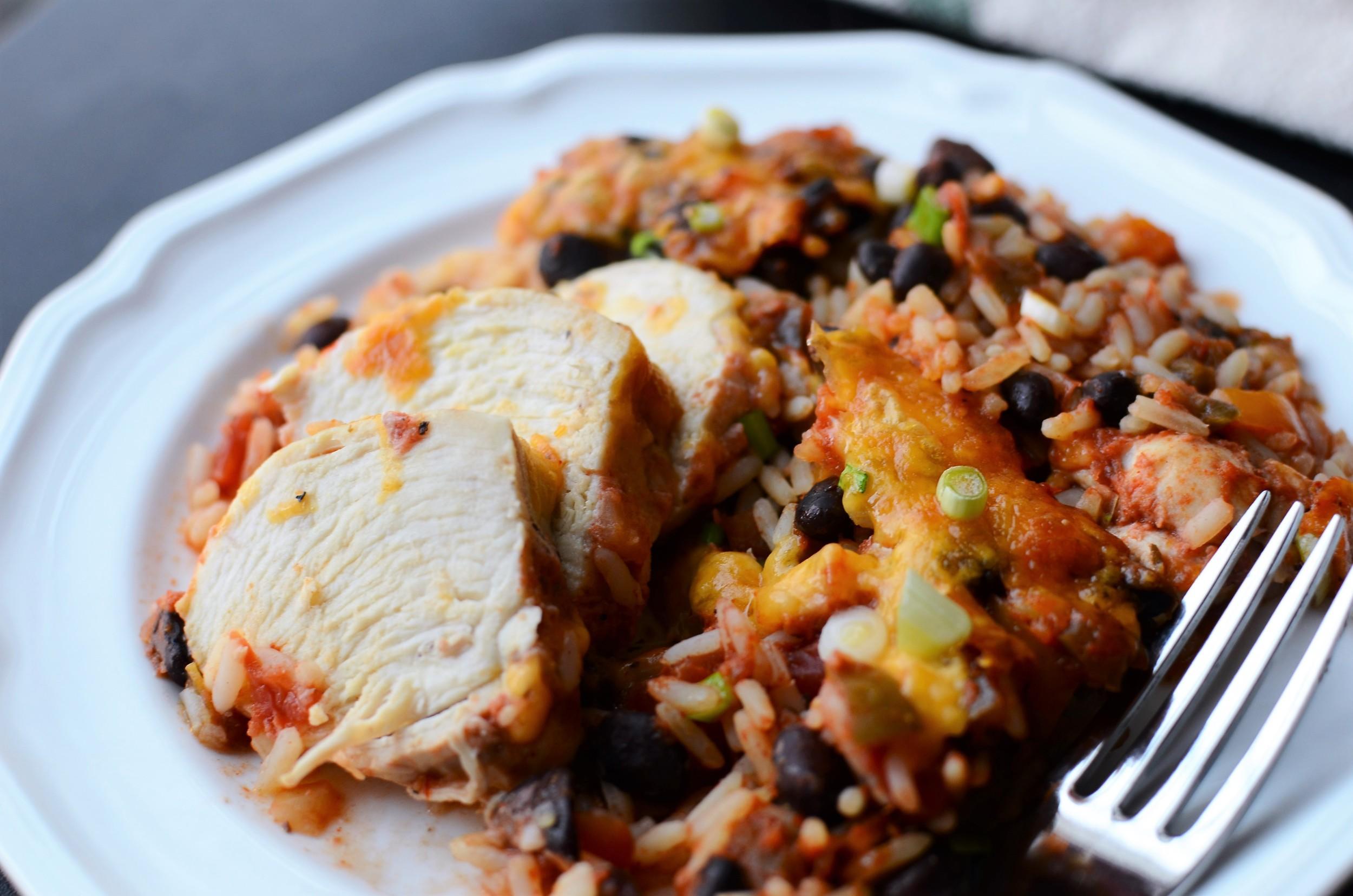 Chicken Salsa Casserole - ButterYum