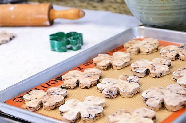 Thin Mint Scones - ButterYum.  girls scout cookie recipes.  recipes that use Girl Scout cookies.  what to do with leftover thin mint cookies.  recipes using Girl Scout cookies.  cooking with thin mint cookies.  cooking with Girl Scout cookies.  baking with Girl Scout cookies.
