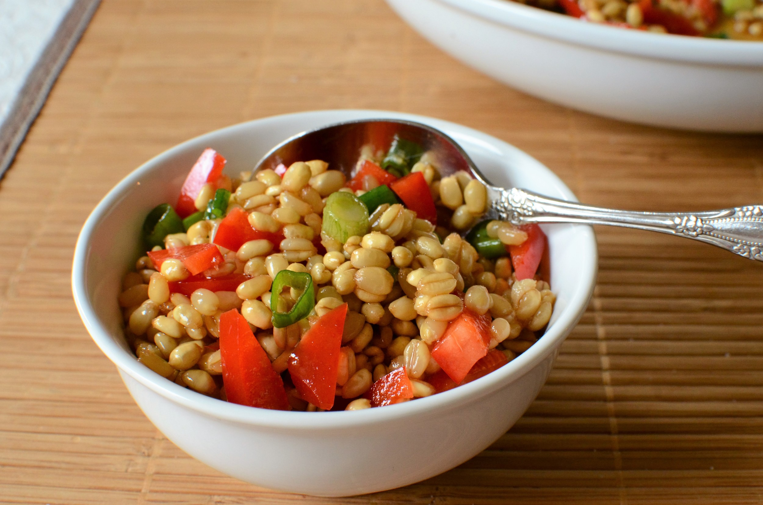 Wheat Berry Salad with Asian Dressing - ButterYum