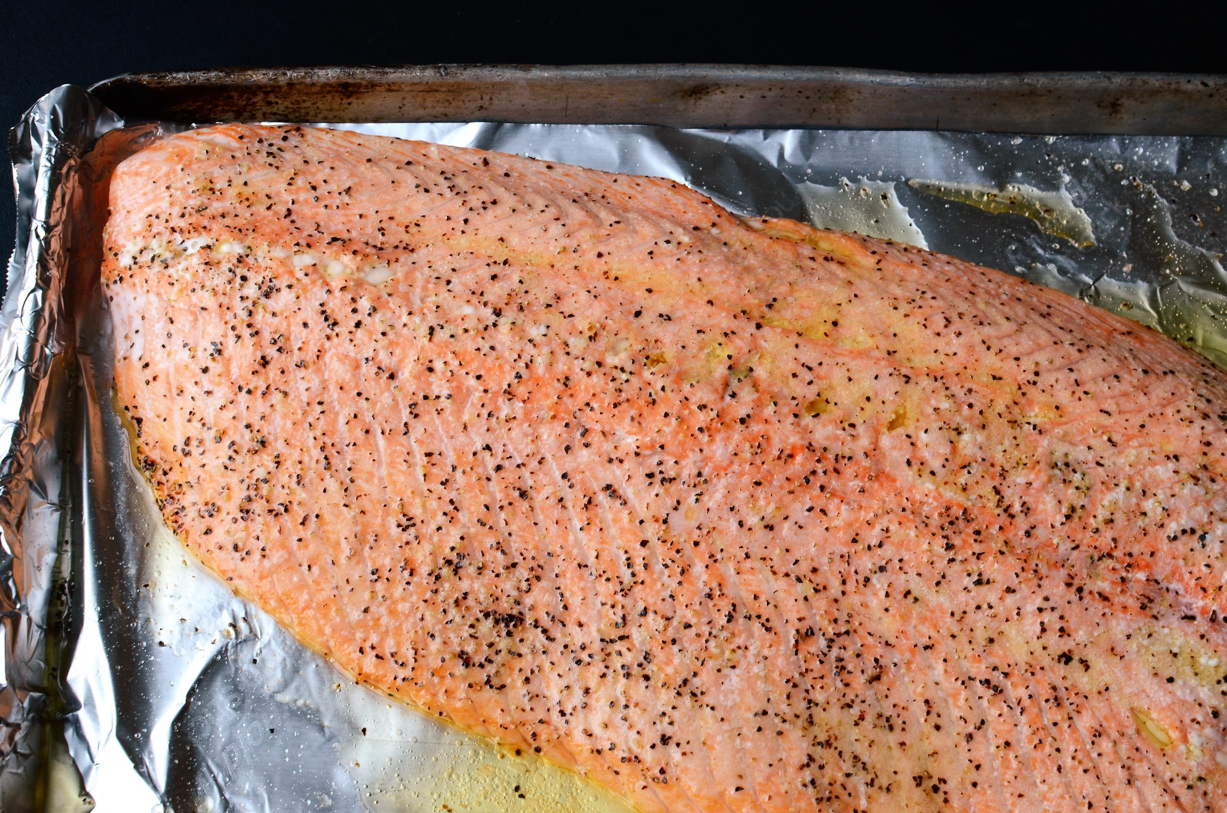 Perfect Roasted Salmon Fillet - ButterYum — how to cook salmon in the oven. how to roast salmon. how to cook a salmon filet. can I cook salmon in the oven? oven roasted salmon recipe. simple salmon in the oven. how to cook salmon perfectly.