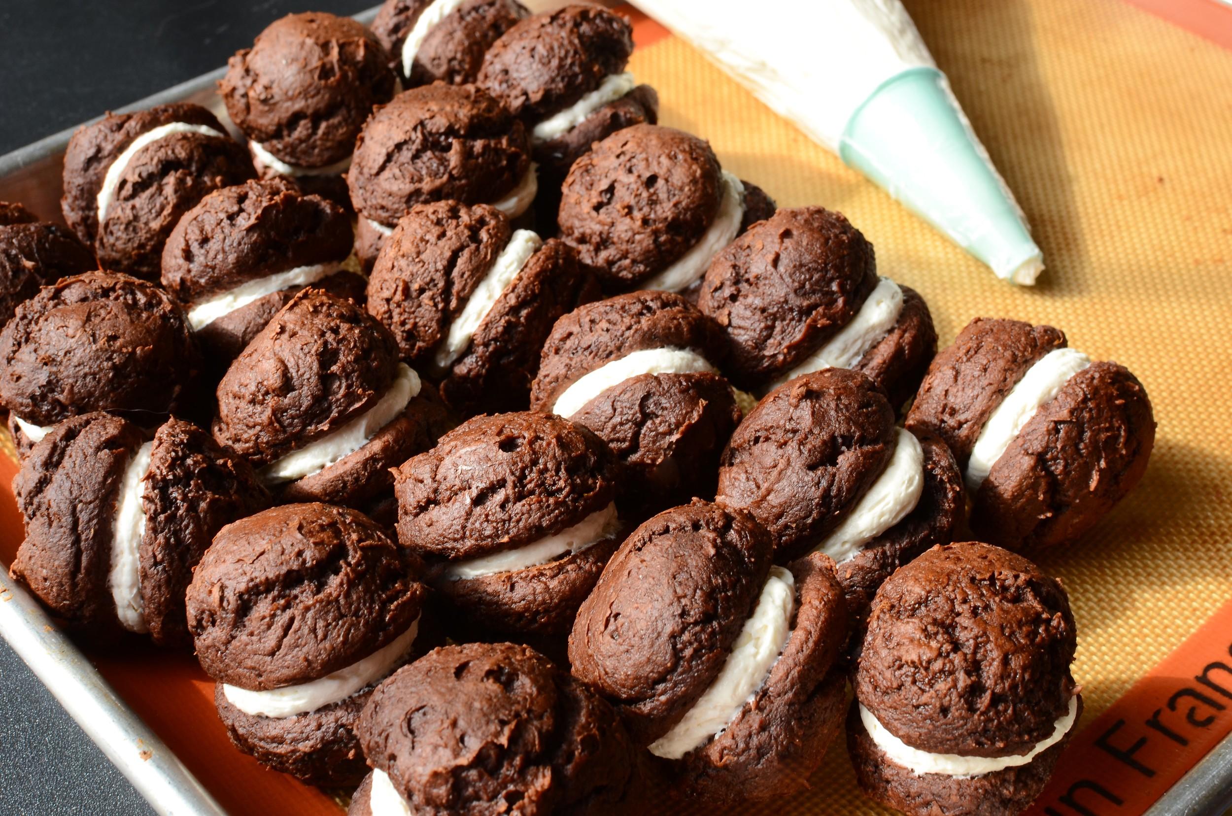 Mini Chocolate Whoopie Pie Recipe WITH PHOTOS