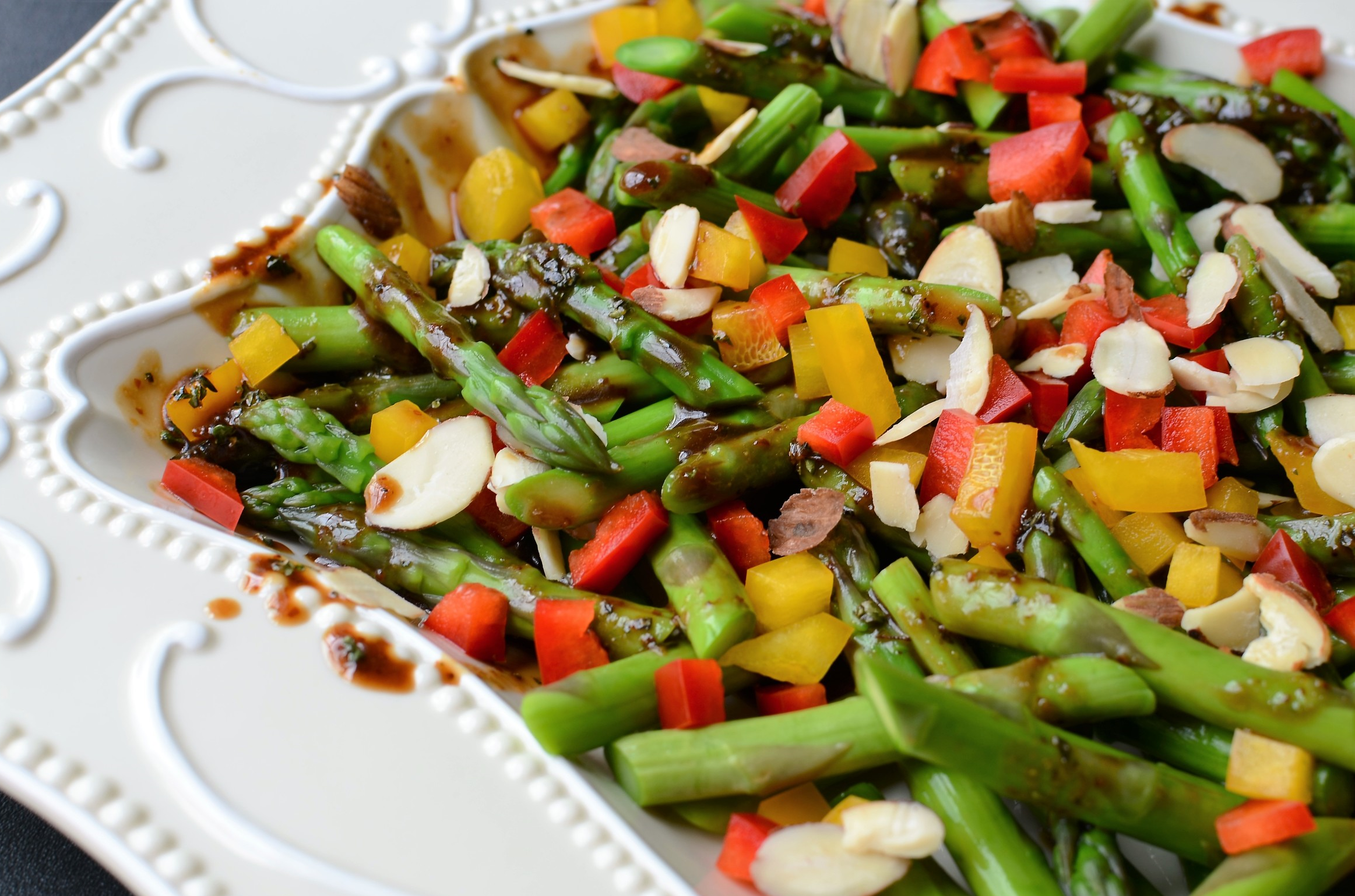 Asparagus Salad with Balsamic Dressing - ButterYum