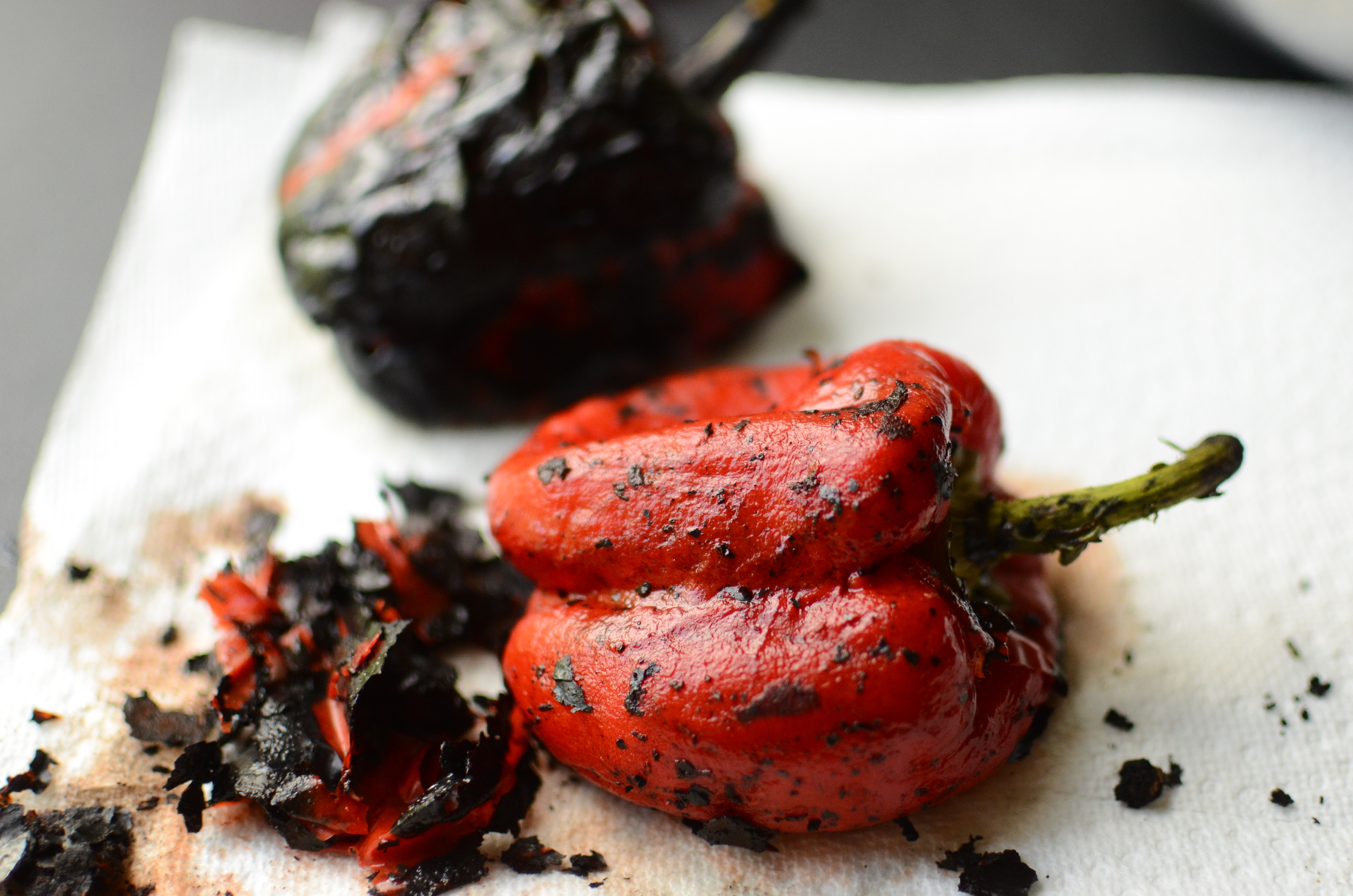 how to roast peppers, and what to do with the.
