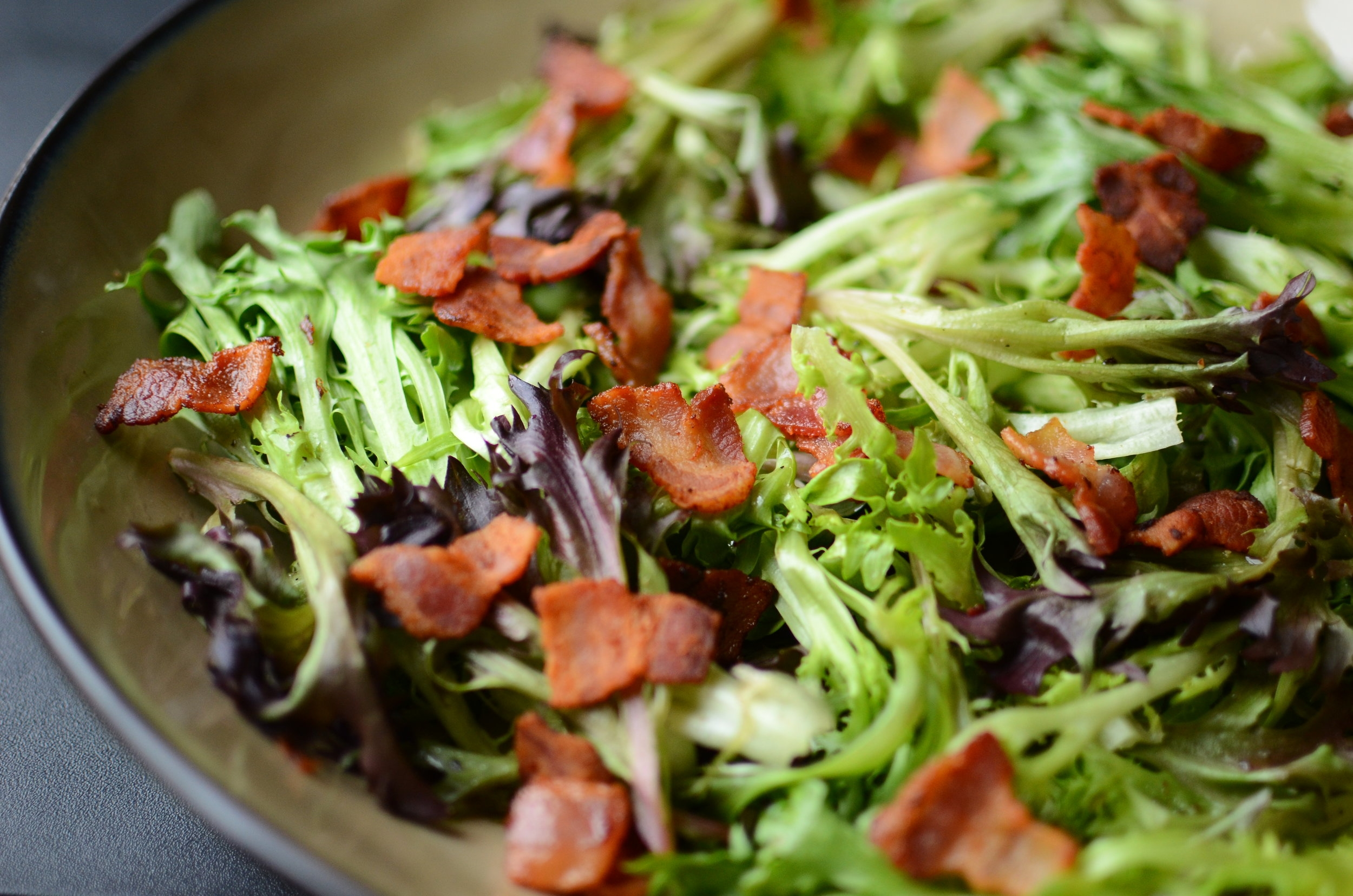 Frisee with Hot Bacon Dressing - ButterYum