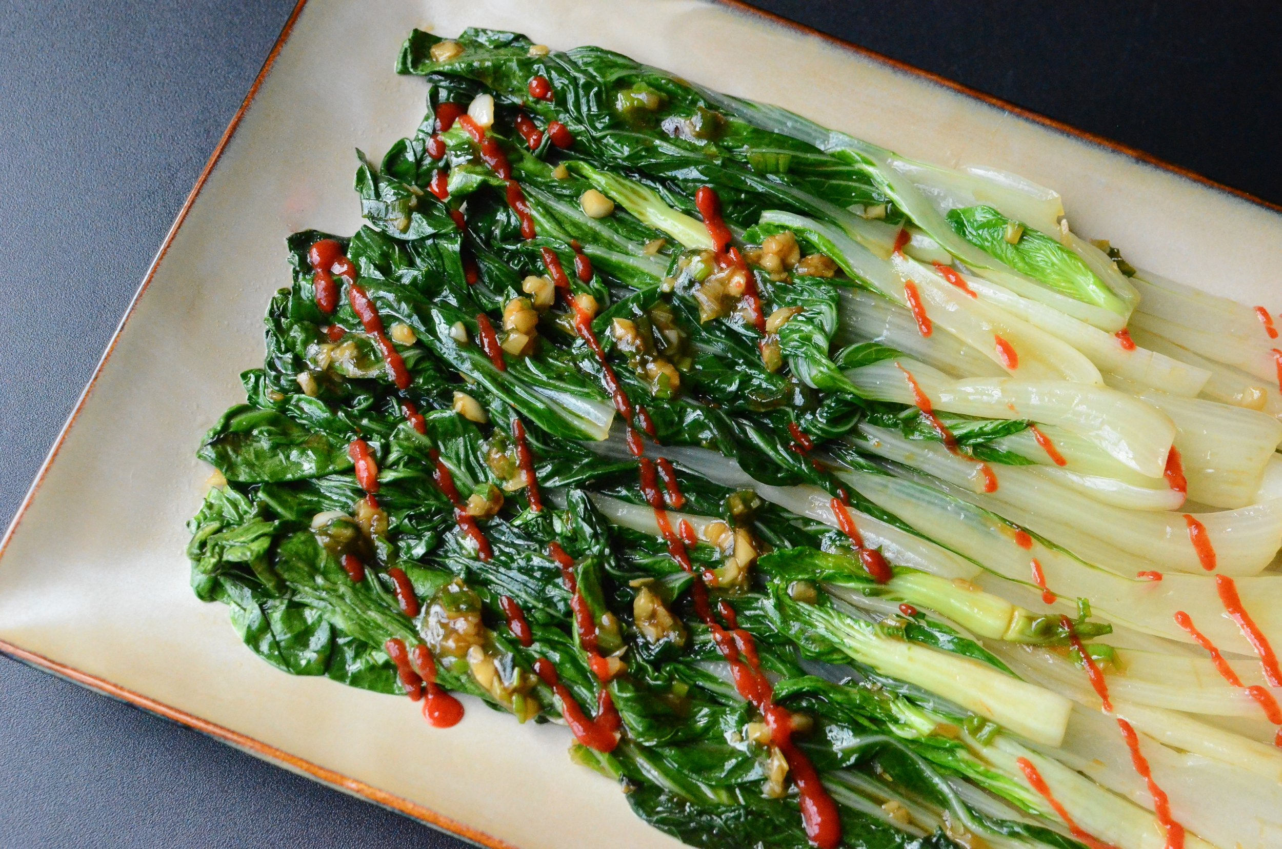 Salty. Sweet, Spicy-Heat Bok Choy - ButterYum. Awesome bok choy recipe. how to sauté Bok Choy. what to do with bok choy.