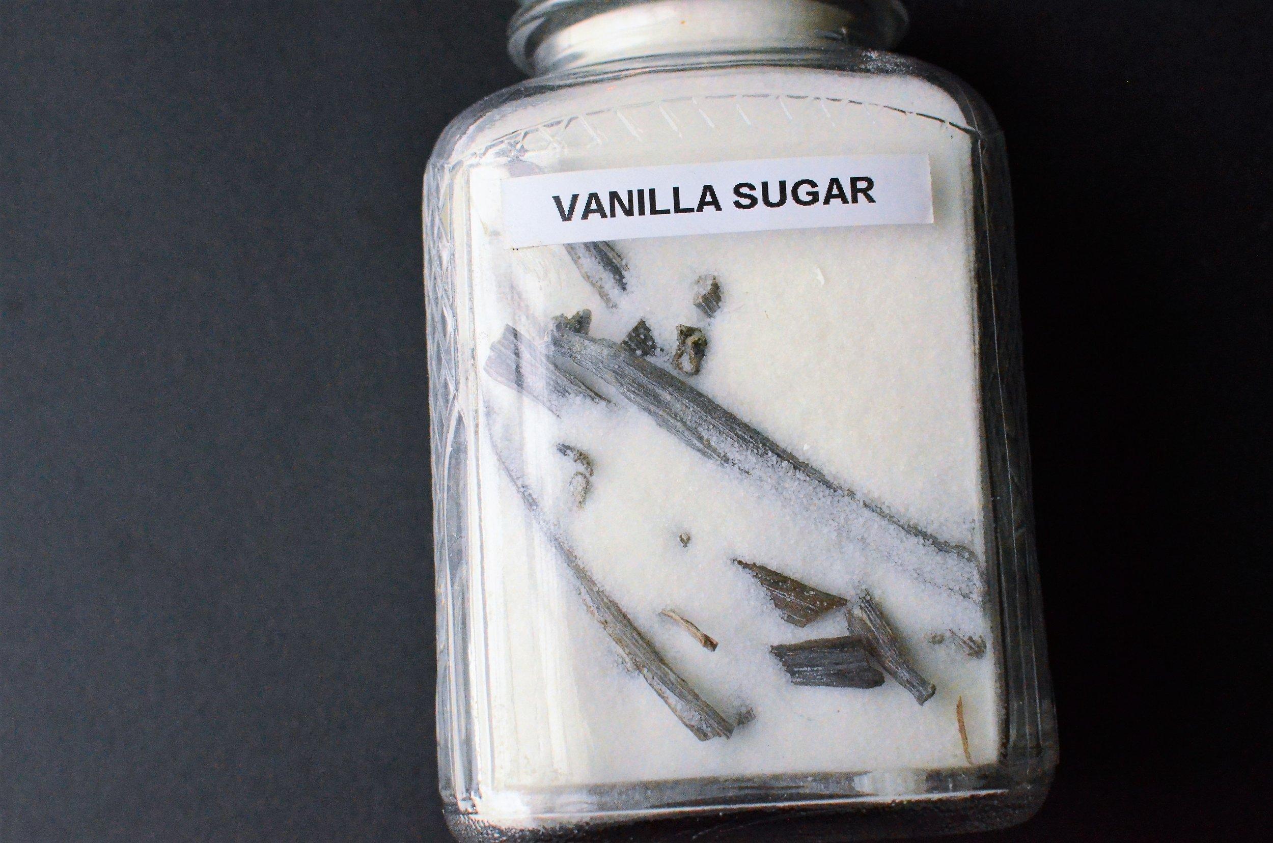 how to make vanilla sugar at home - with photos