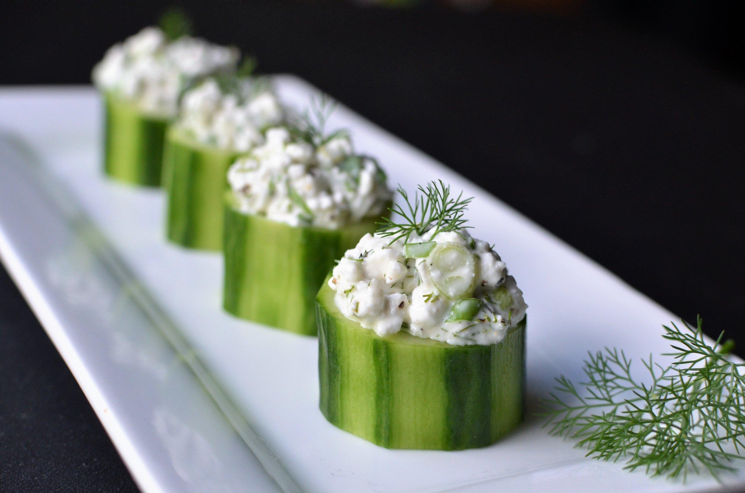 Cucumber Cups - ButterYum, cucumber appetizer recipe. bite-size cucumber recipe. cucumber finger food recipe. cocktail party appetizer recipe. cucumber cup recipe. english cucumber appetizer.