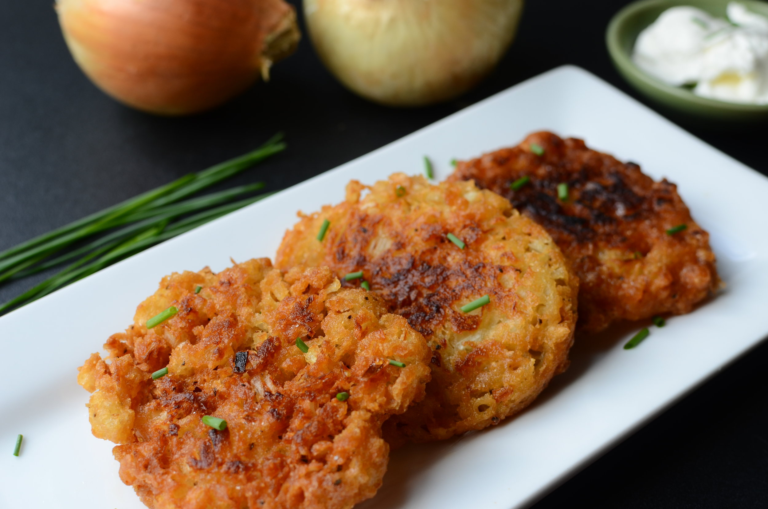 Amish Onion Patties - recipe with how-to photos