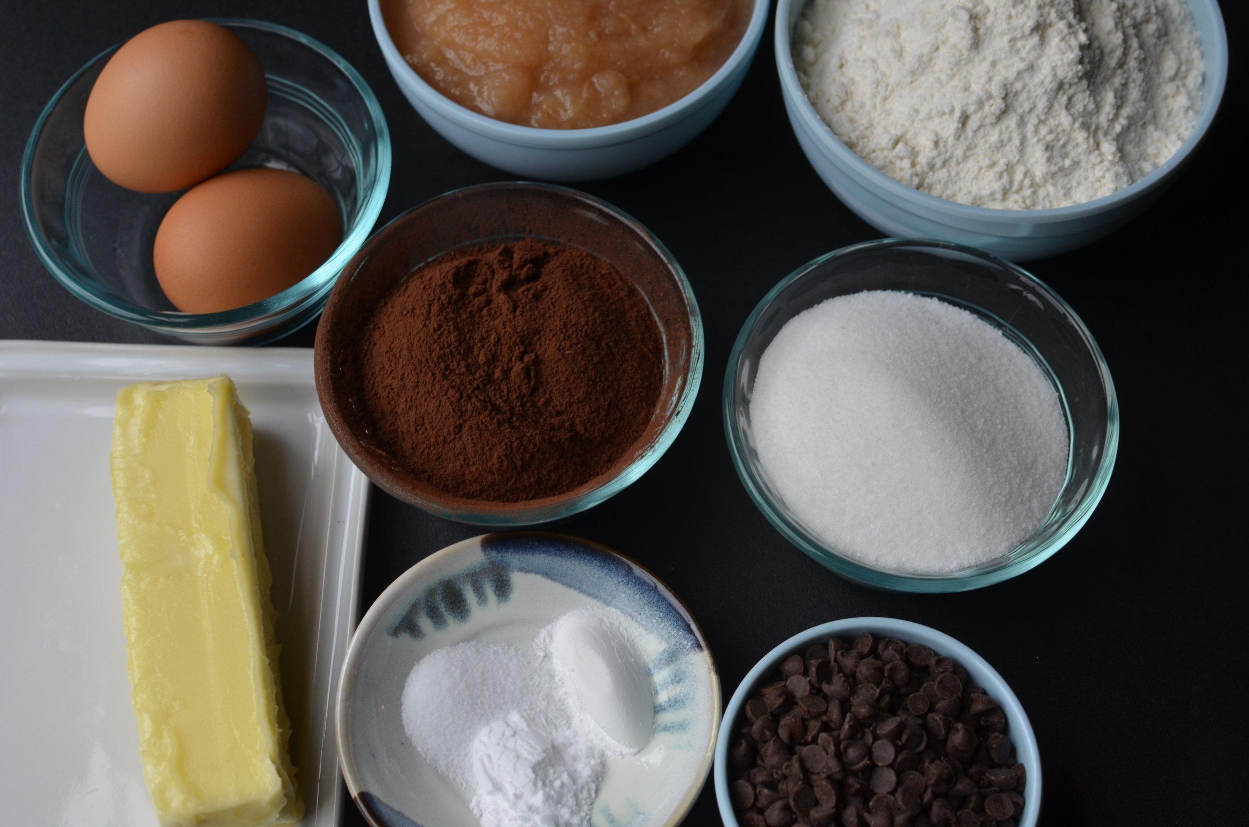 skinnier chocolate muffin recipe - chocolate applesauce muffin recipe