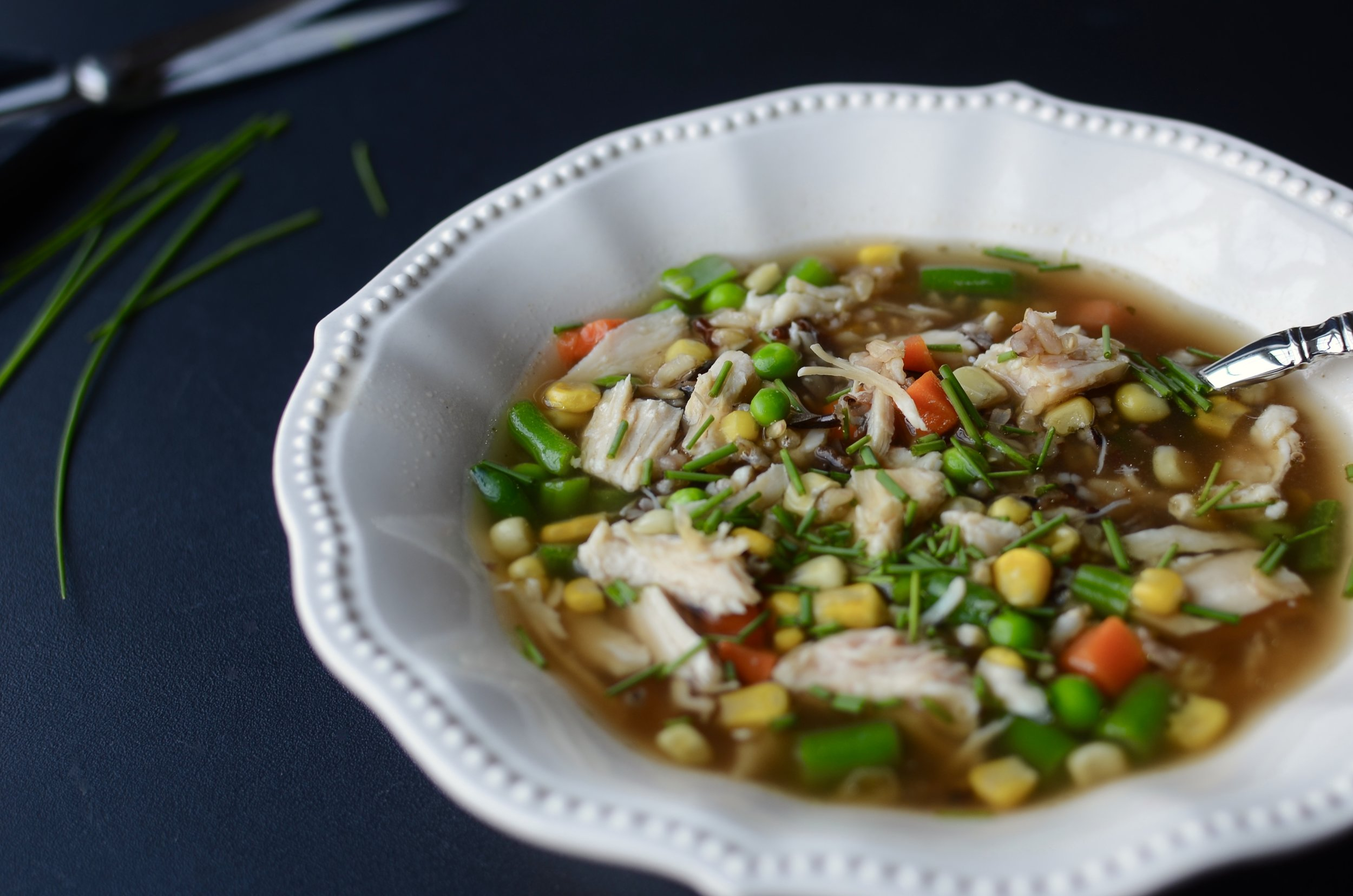 Chicken and Wild Rice Soup - ButterYum —