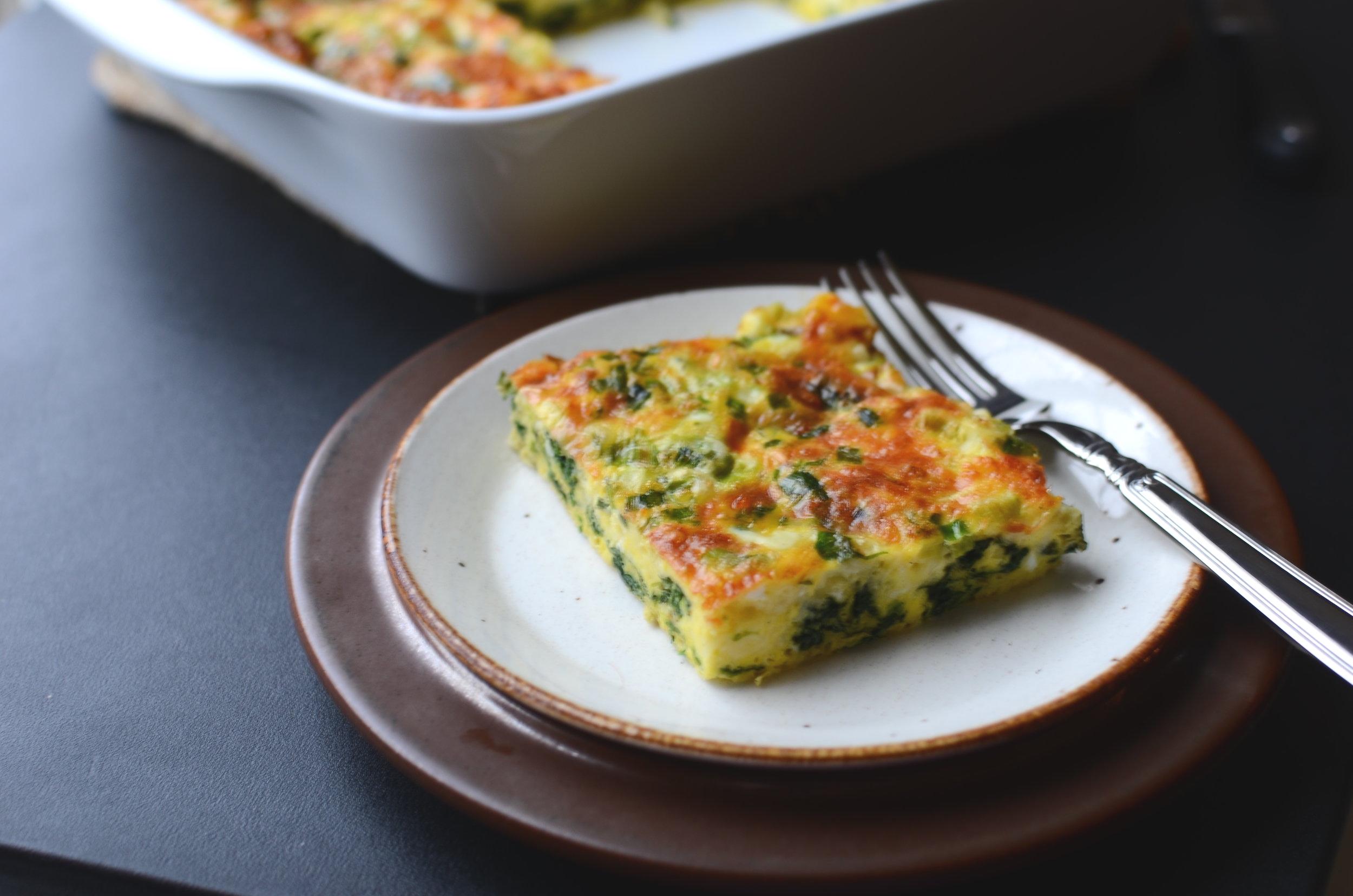 Keto Cheesy Spinach and Egg Casserole - ButterYum —