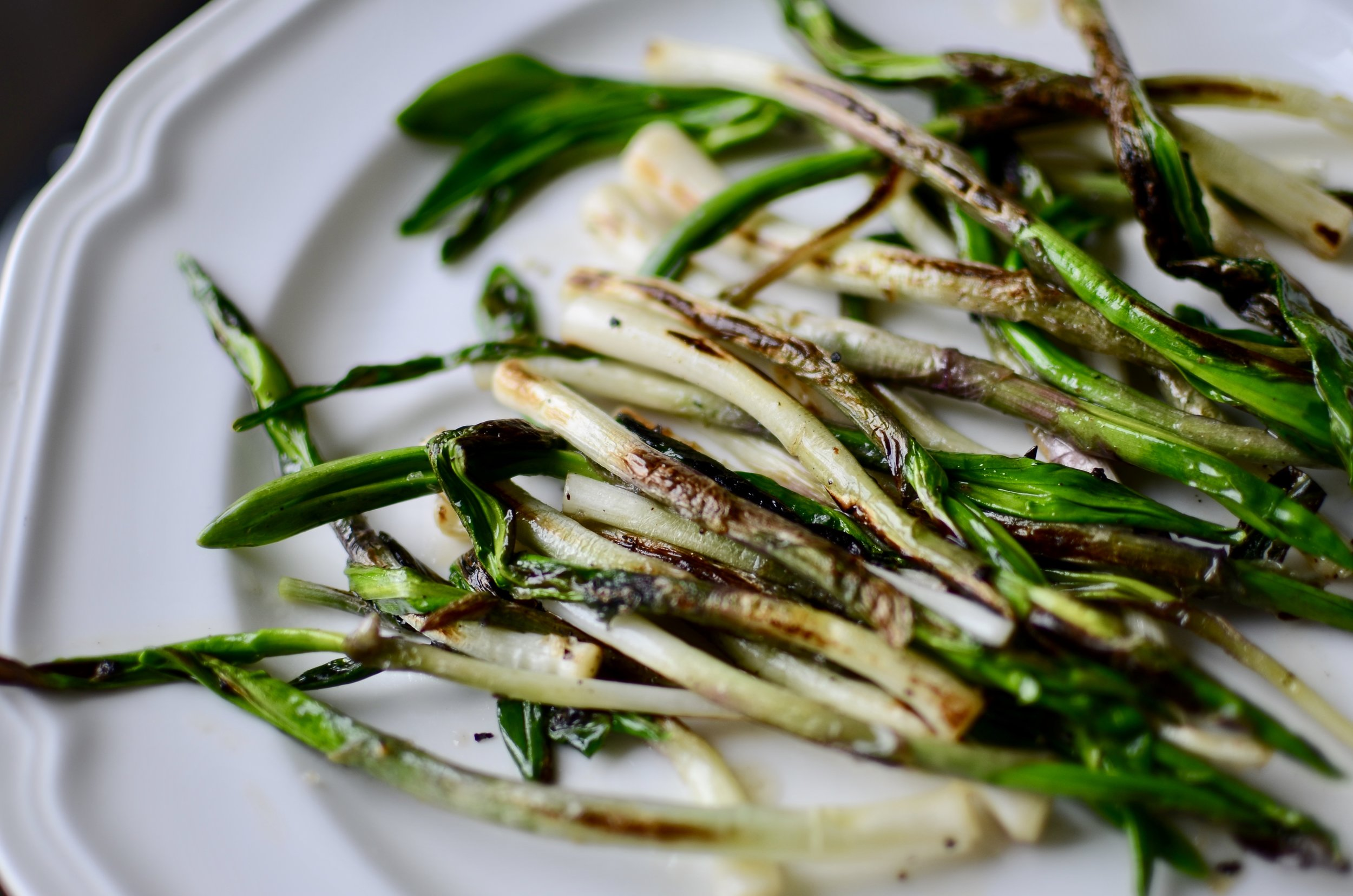 how to cook ramps - ButterYum. what to do with ramps. ramps recipes. cooking with ramps. recipes for ramps. recipes to use ramps. grilling ramps. sautéing ramps. cooking ramps on the stovetop. skillet ramps recipe.