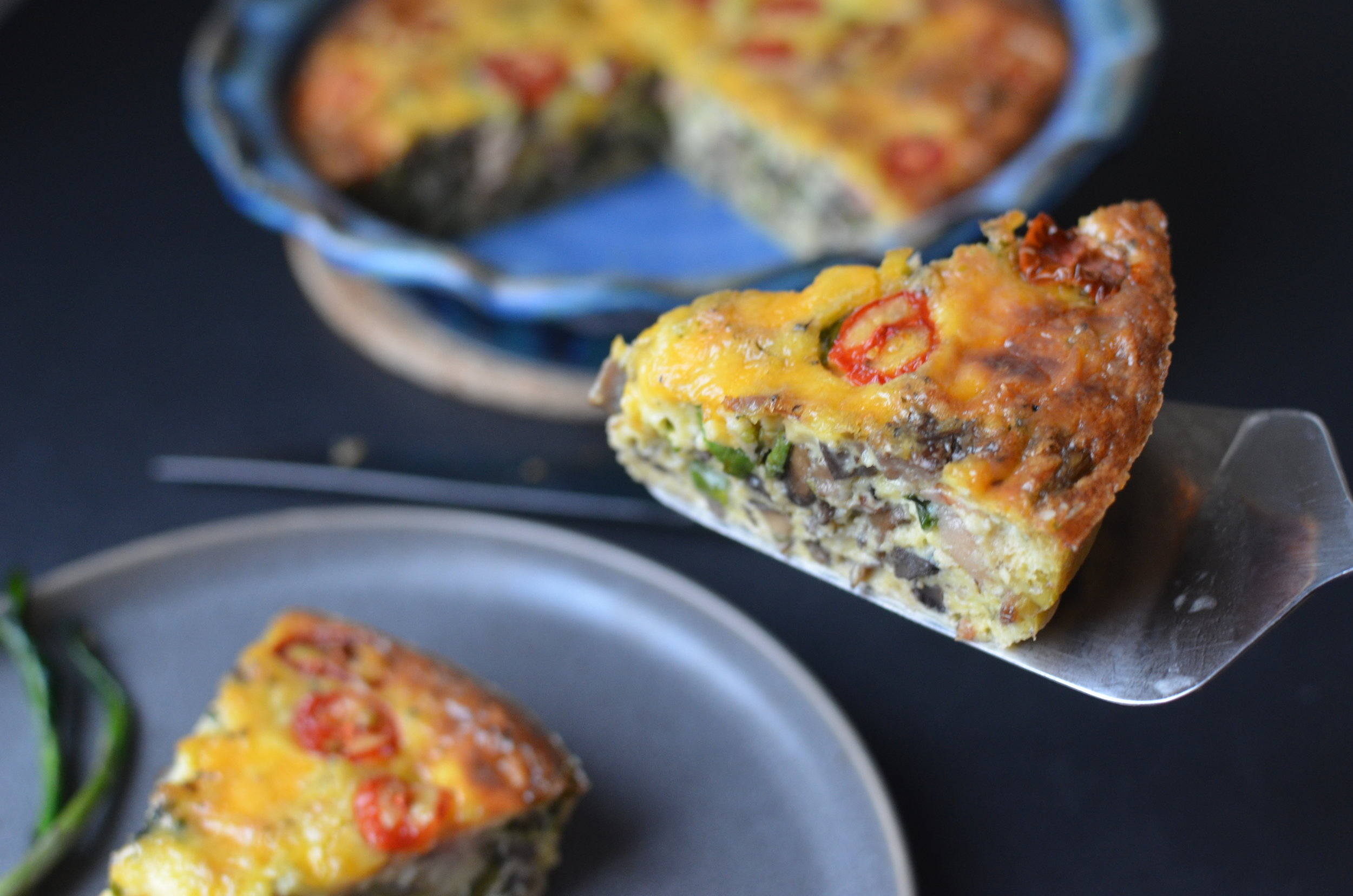 brunch-frittata-ramps-bacon-mushrooms-tomatoes-butteryum