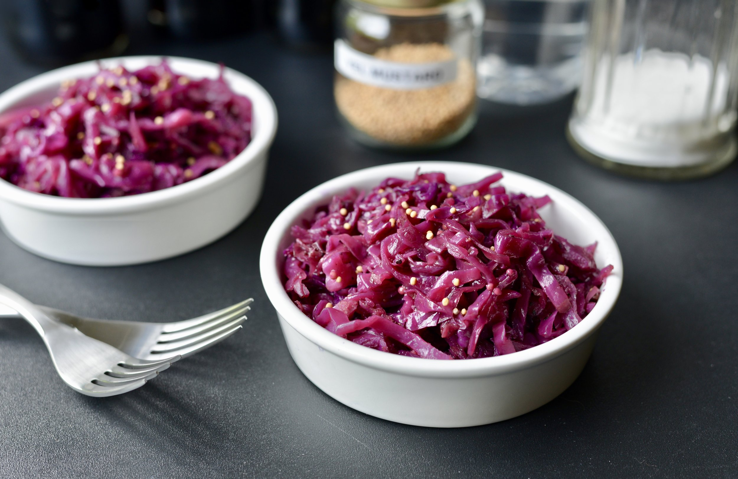How to make Braised Red Cabbage in a skillet - ButterYum. Red cabbage recipe. Sweet and Sour Red Cabbage. Sauteed red cabbage recipe.