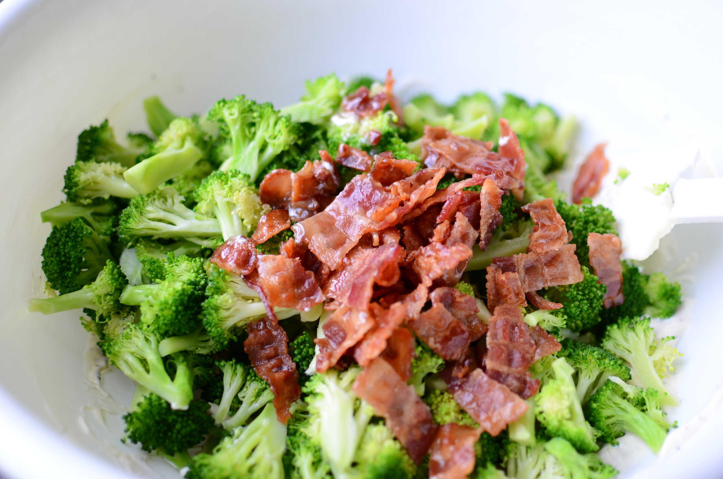 making-cold-broccoli-salad-recipe-butteryum