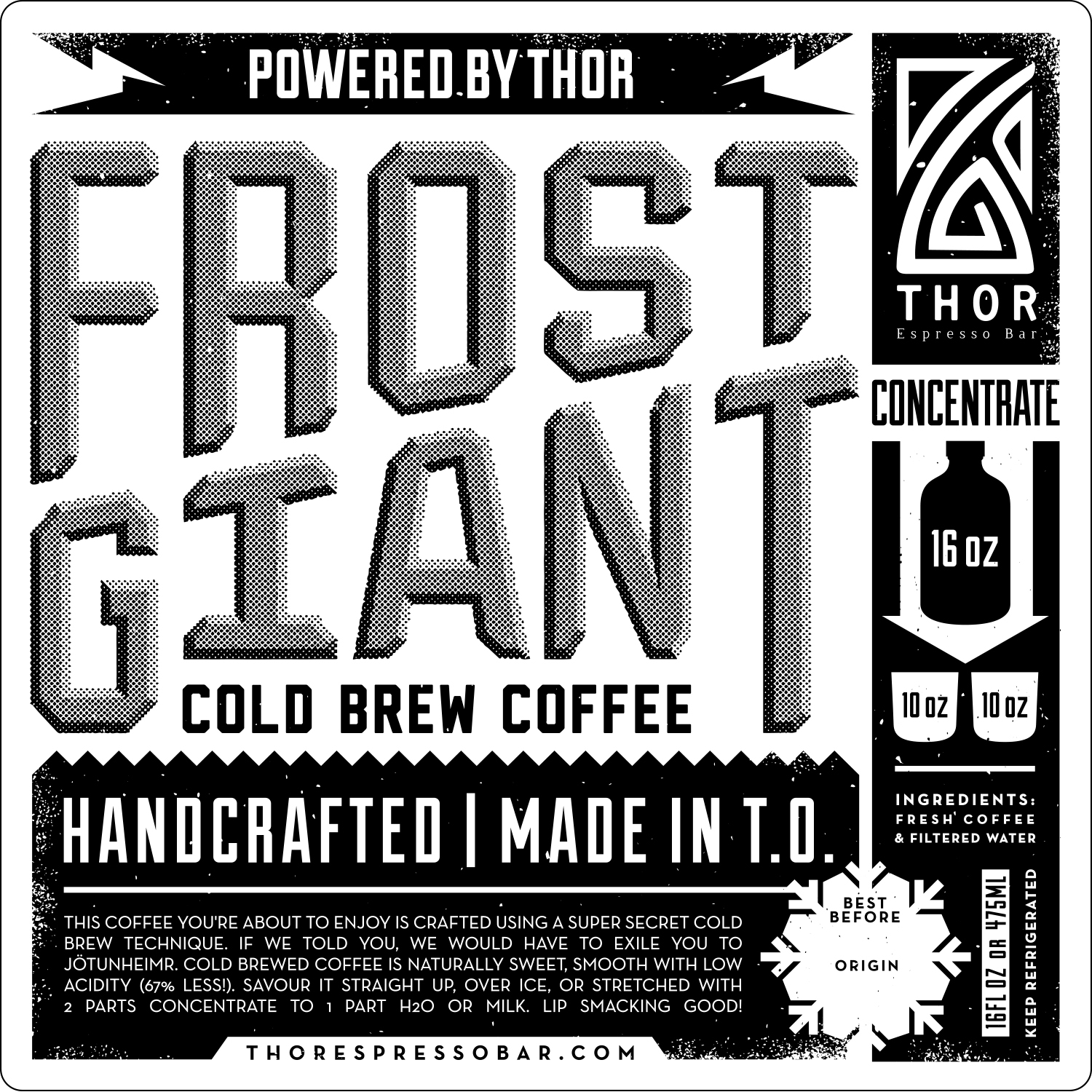 "The ""FROST GIANT"" name was proposed to fit with the Norse mythology theme of the brand."