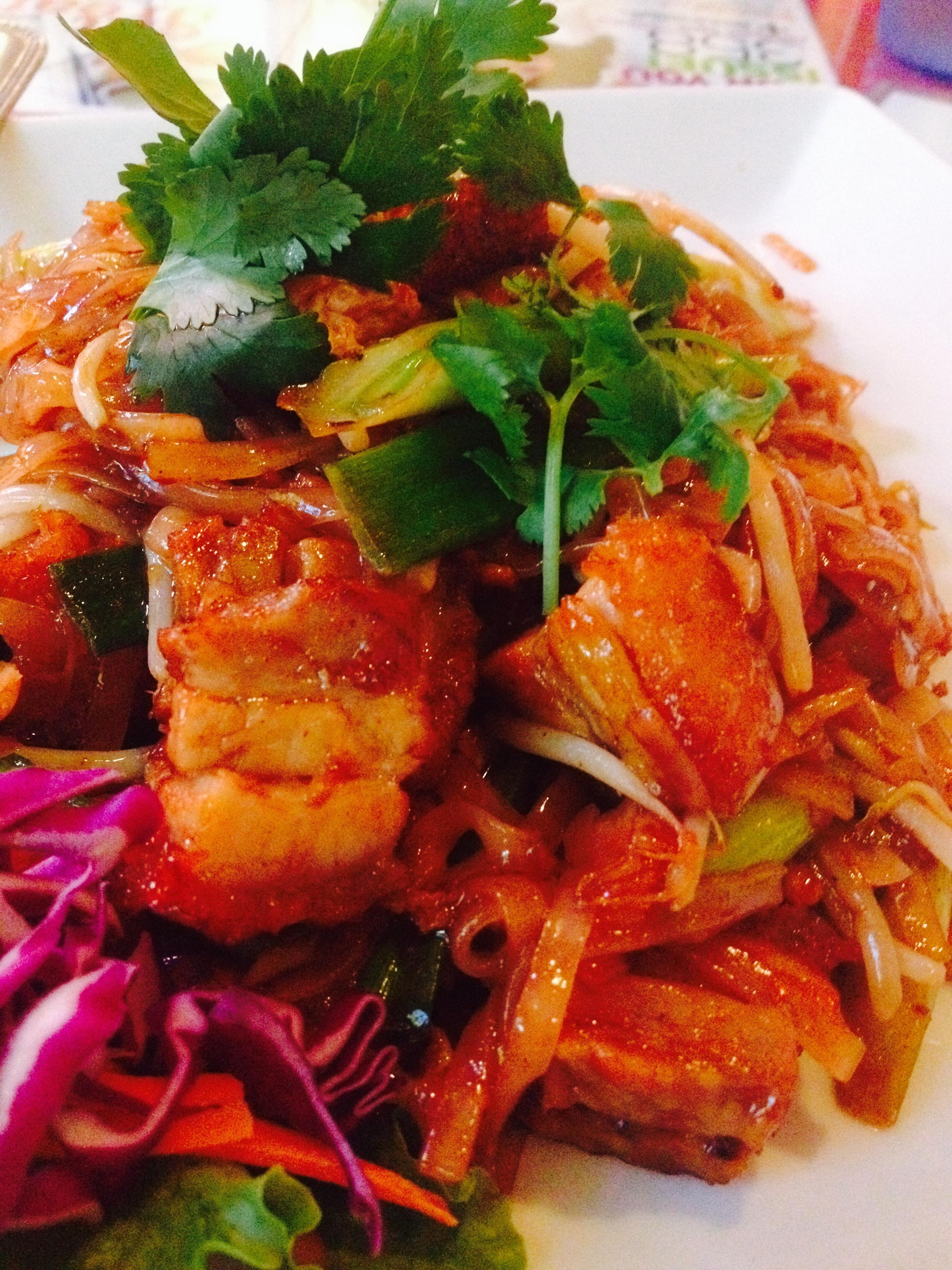 Pad Thai with Crispy Pork.