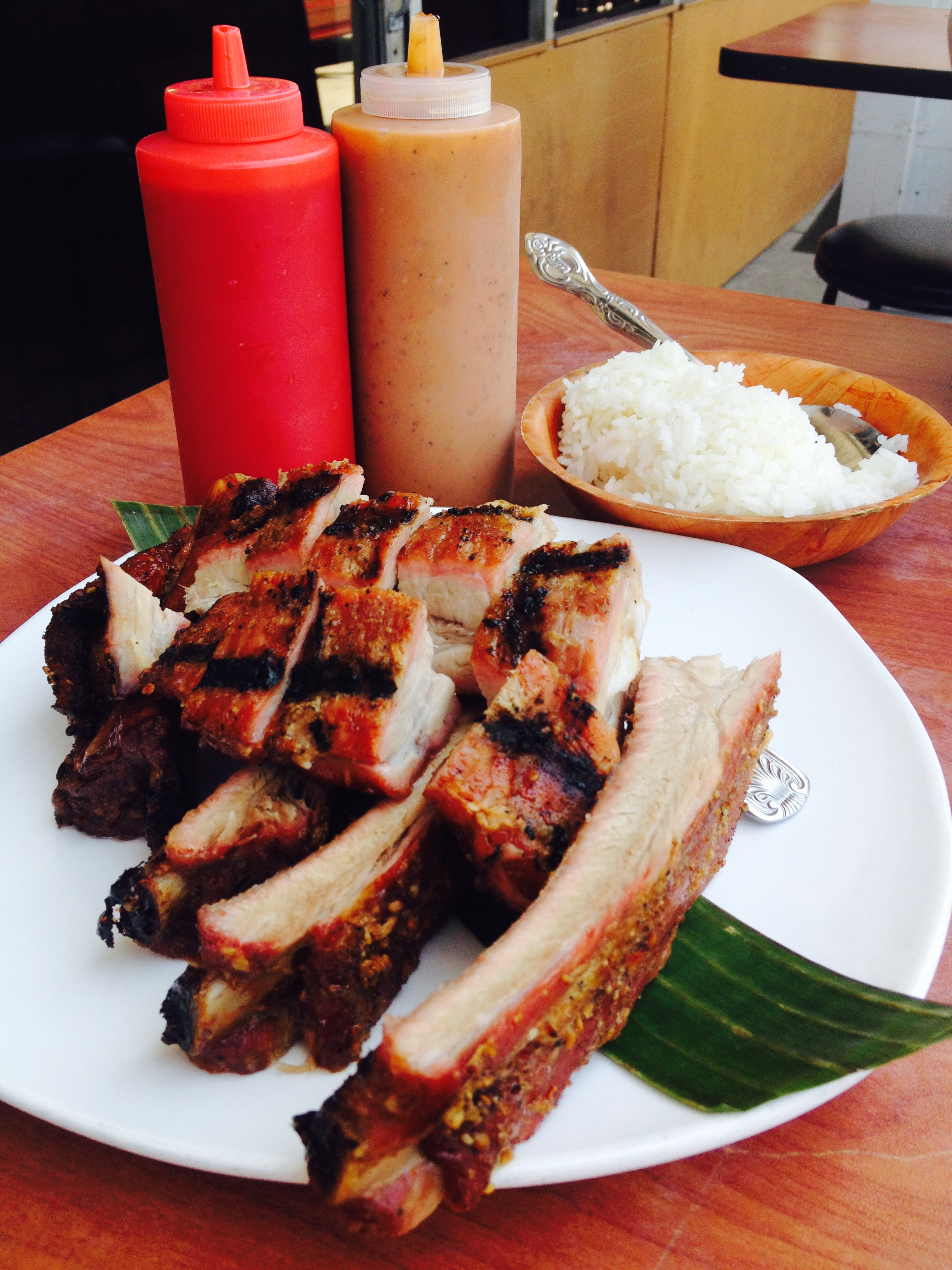 Mt. Malindang Pork Ribs & Riblets - seasoned, slow-smoked st. louis pork ribs and rib tips, accompanied by secret sauces