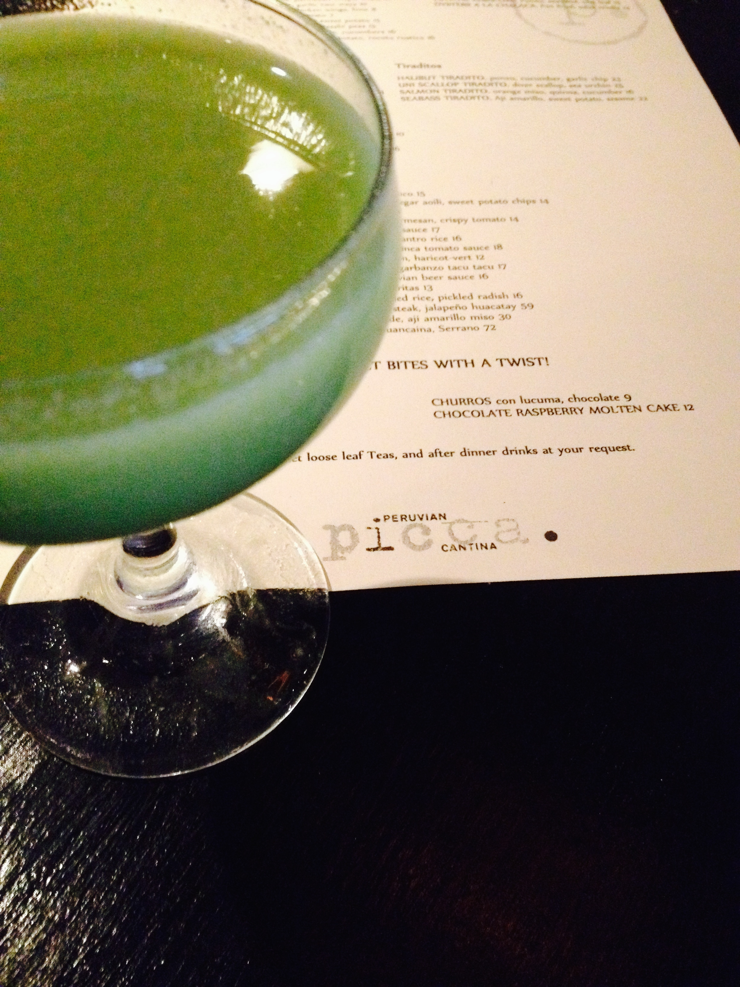 THE AVOCADO PROJECT COCKTAIL with 5 Island white rum, fresh avocado, ascorbic acid, fresh lime juice, agave nectar.