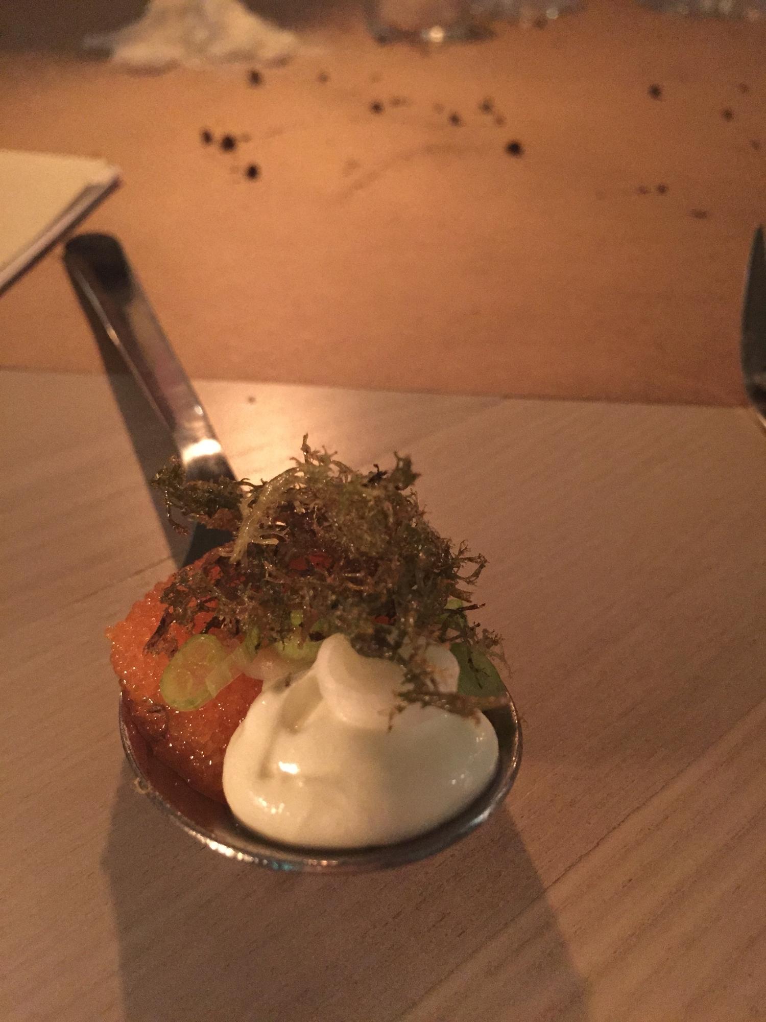 Lichen, Sour Cream, and Vendace Roe
