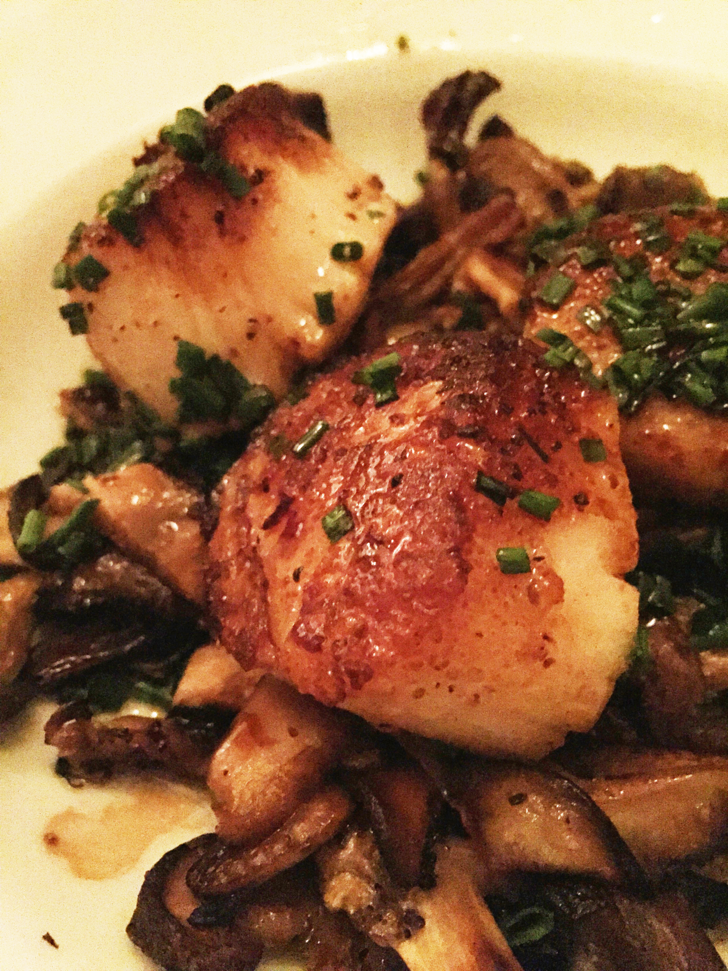 Sauteed Scallops, Mushrooms, Aged Balsamic Vinegar