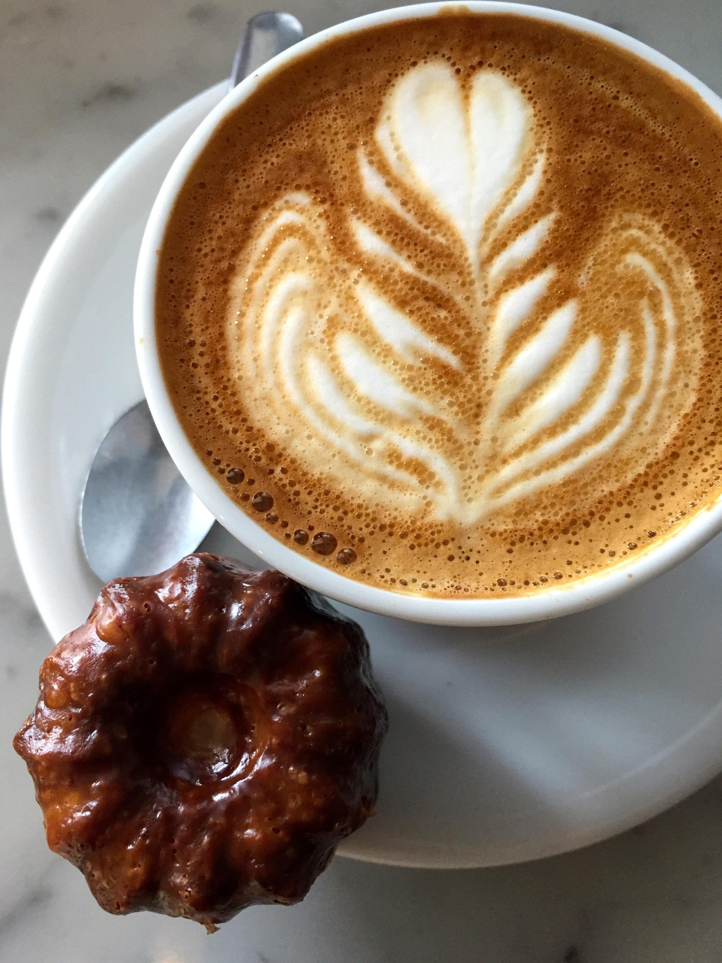 A Cappuccino and aCanelé