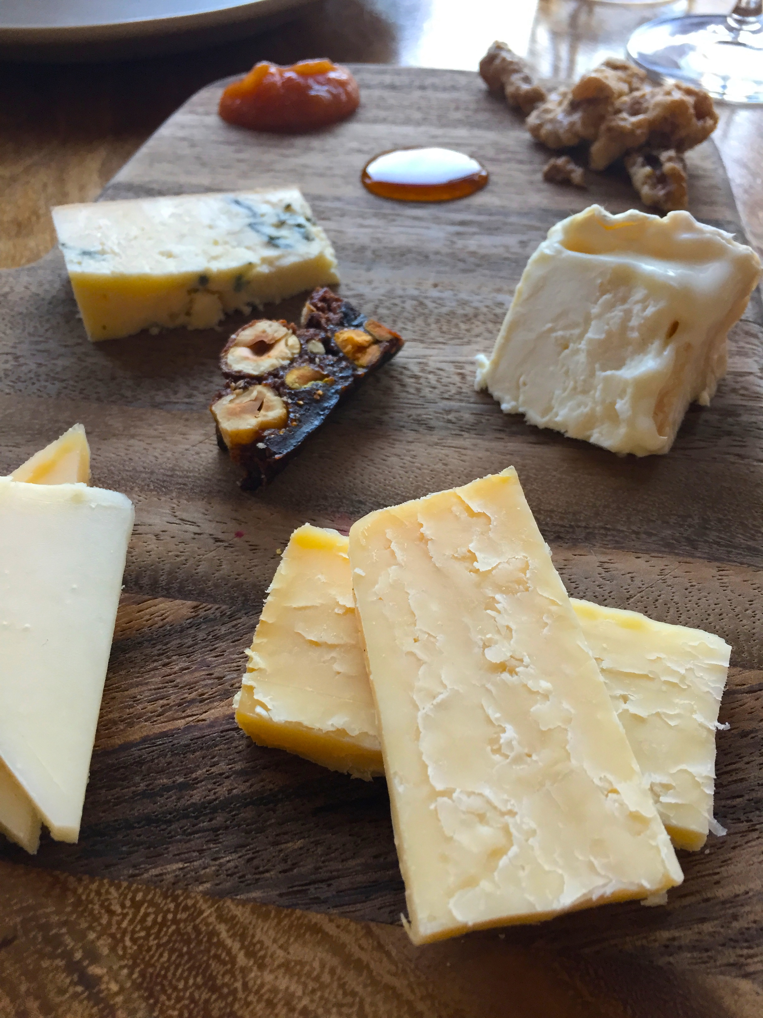 Cheese board selection.