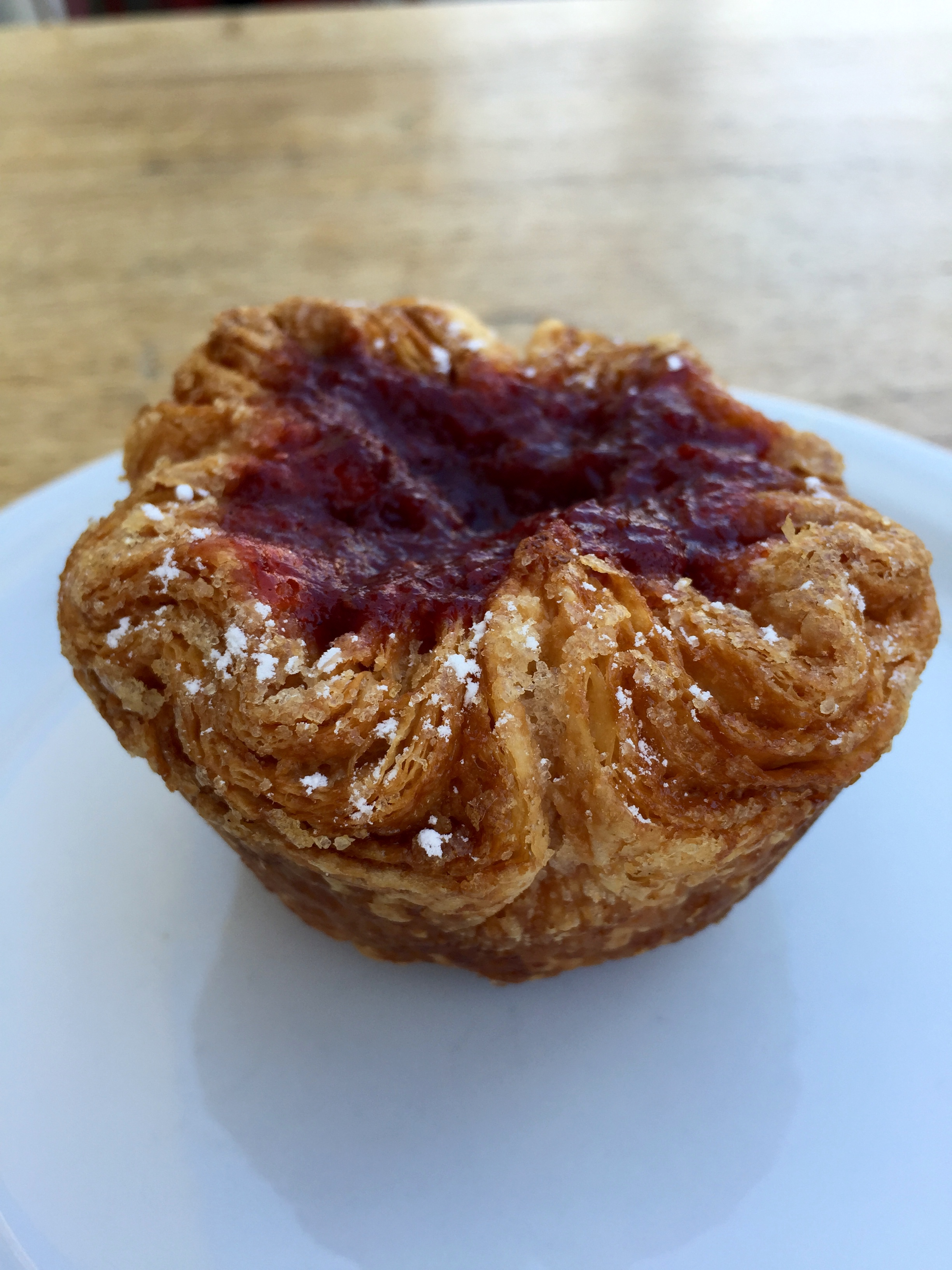 Strawberry  kouign-amann.