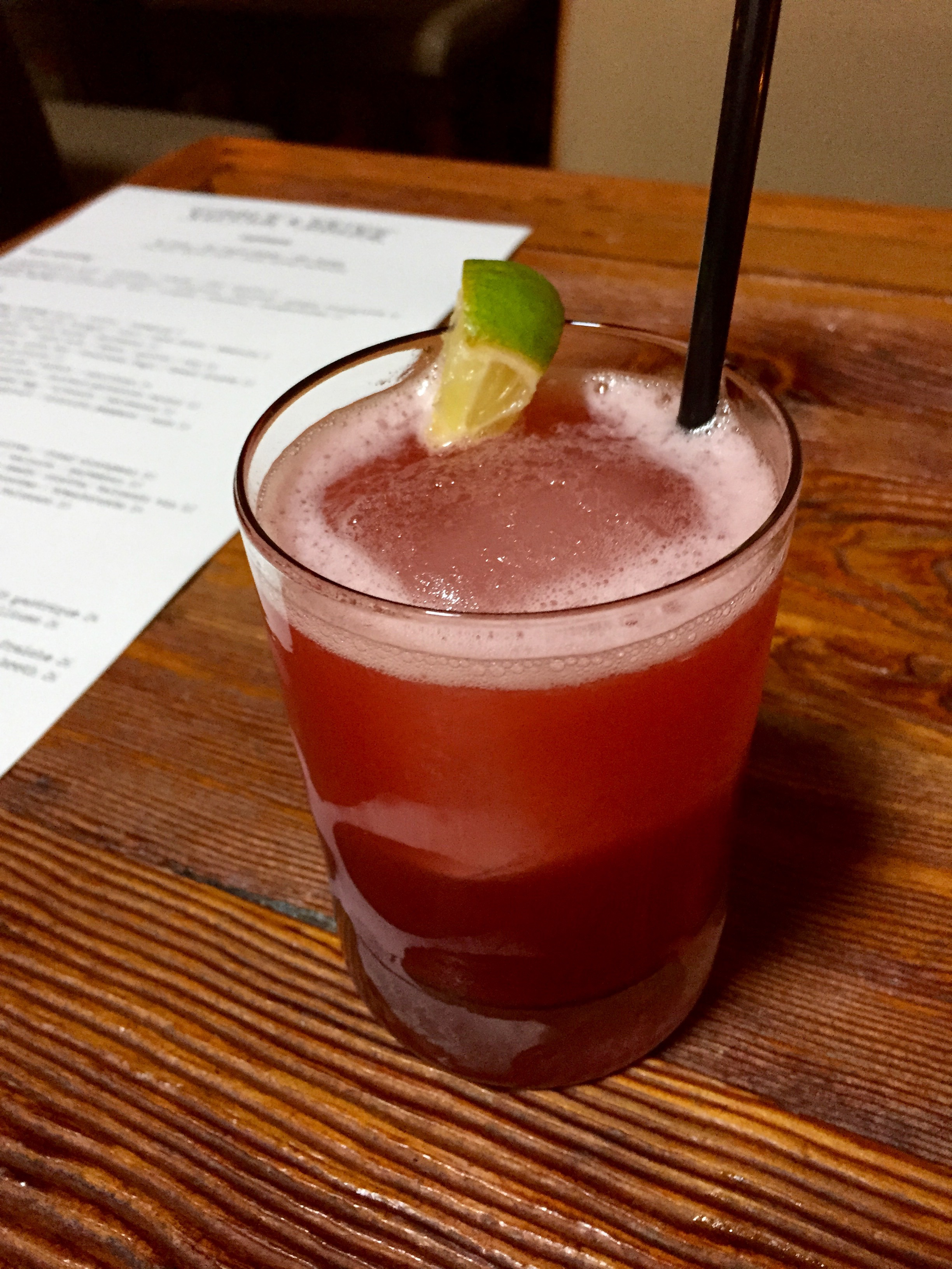 Mexican Firing Squad  - Olmeca Altos Tequila, Lime, House-Made Grenadine, Bitters (made spicy)