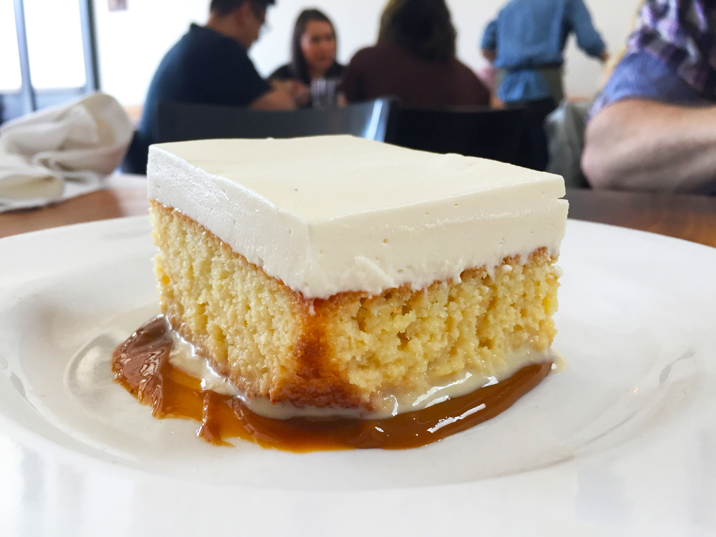 Tres Leches Cake with dulce de leche.