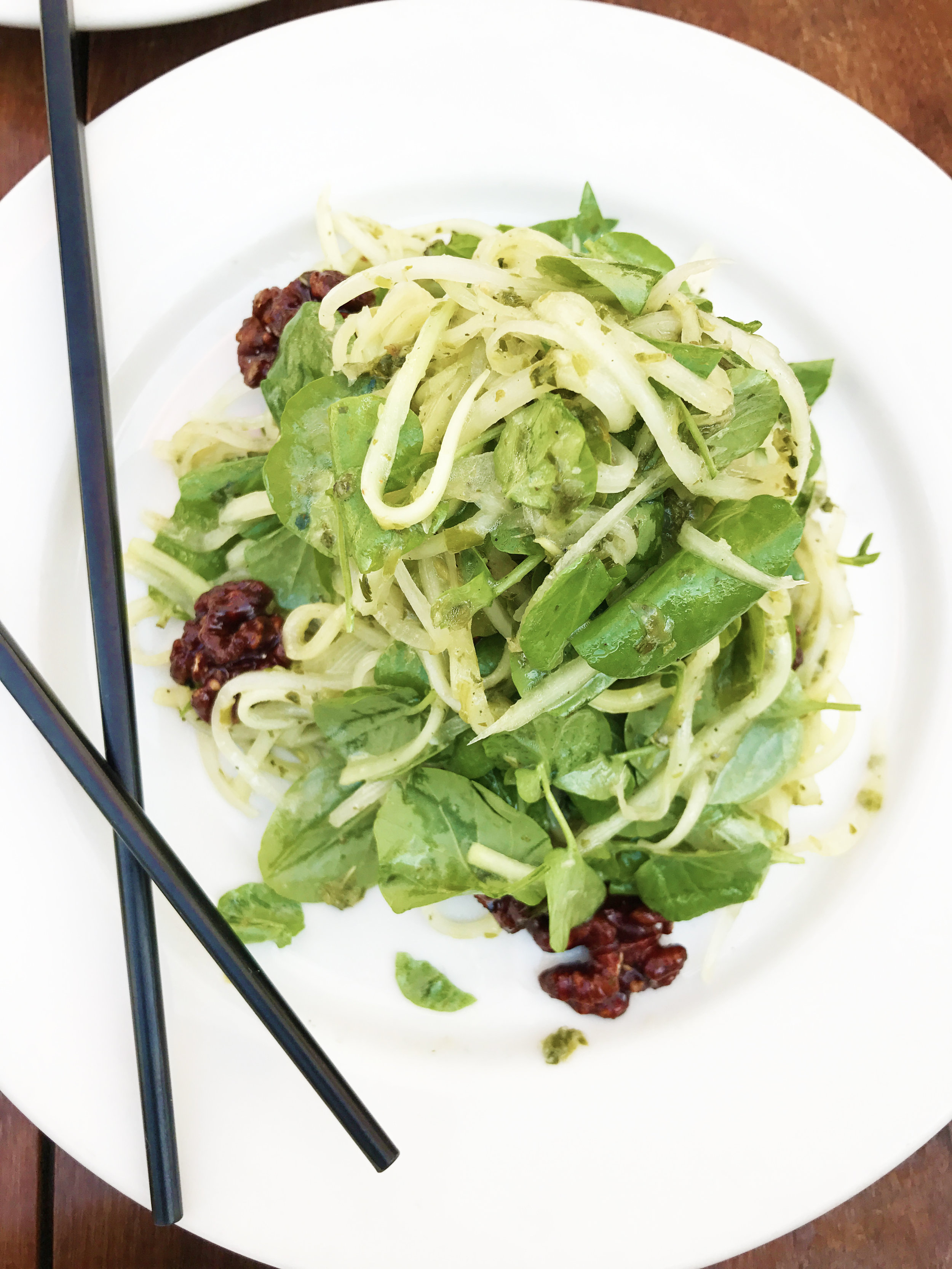 Green Papaya Salad with watercress and spice walnuts