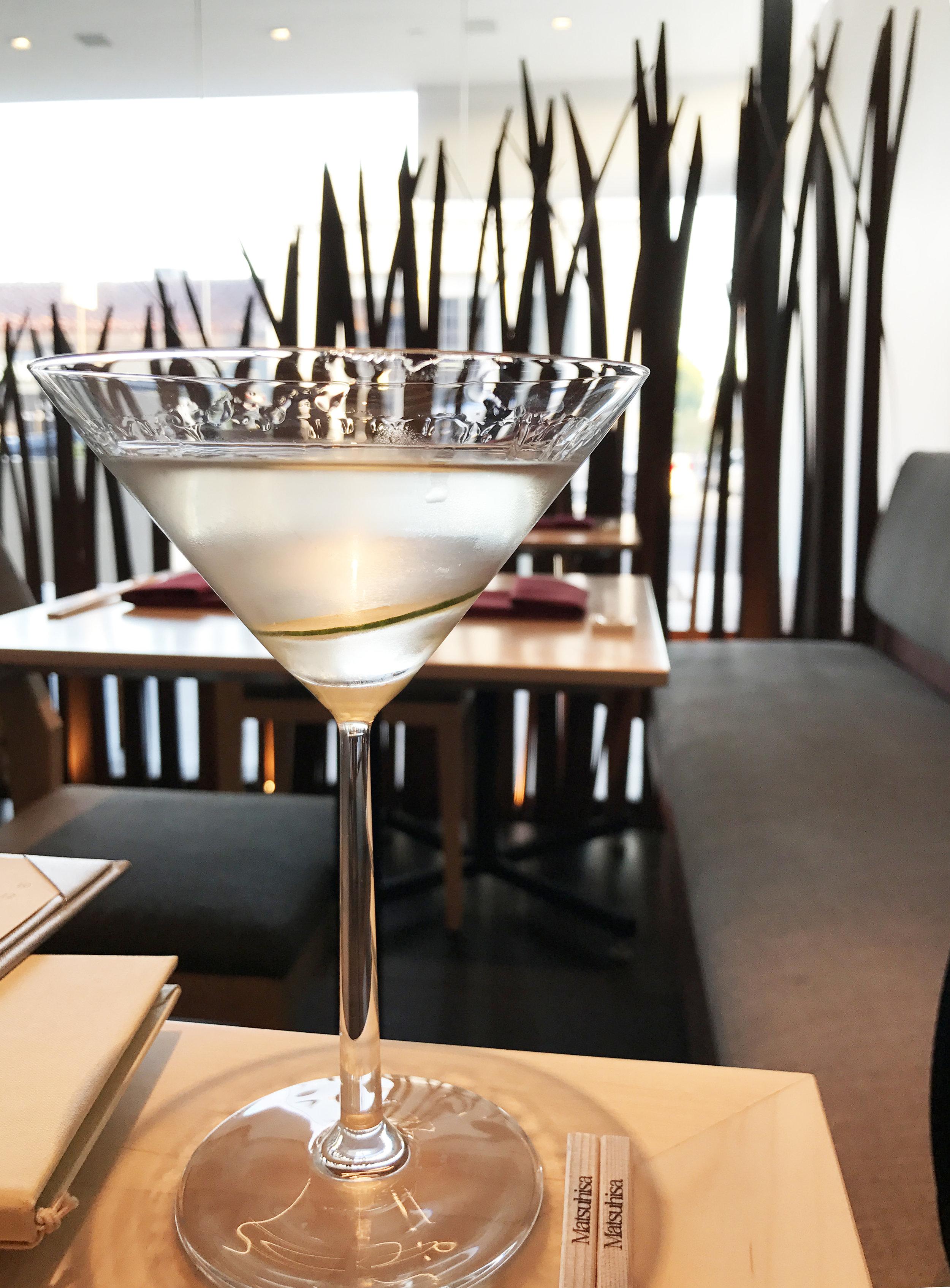 """Sake Martini with Hokusetsu """"Junmai"""" Sake & Asian Vodka"""