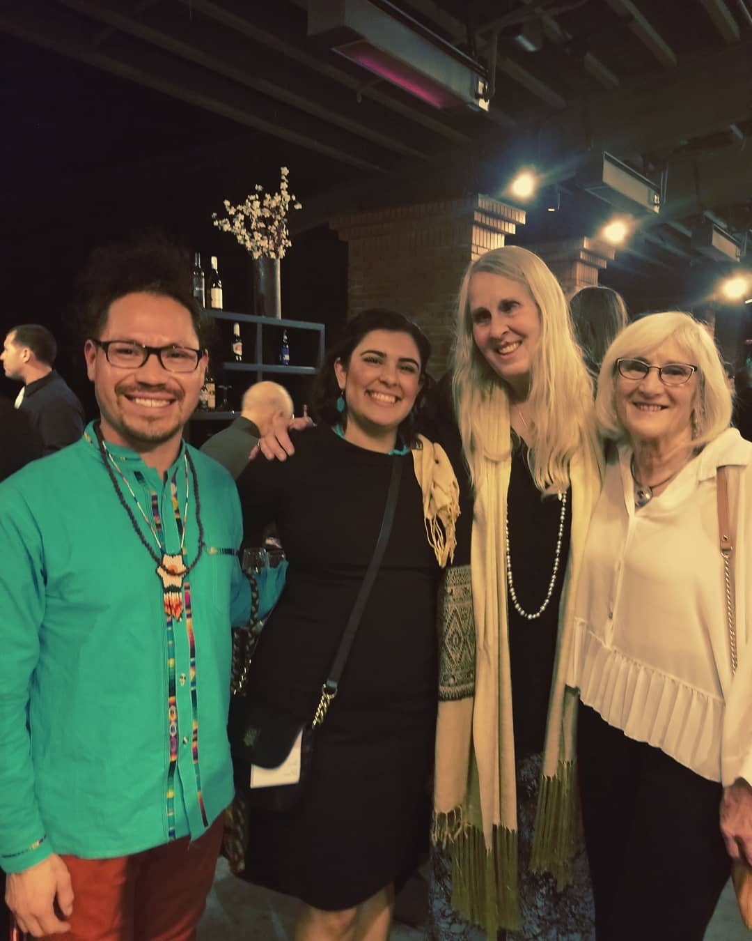 image description: JC Gonzales, Meheen Ruby, Marcia Perry, and Janet Myer at the Arts Council Champion of the Arts Gala.